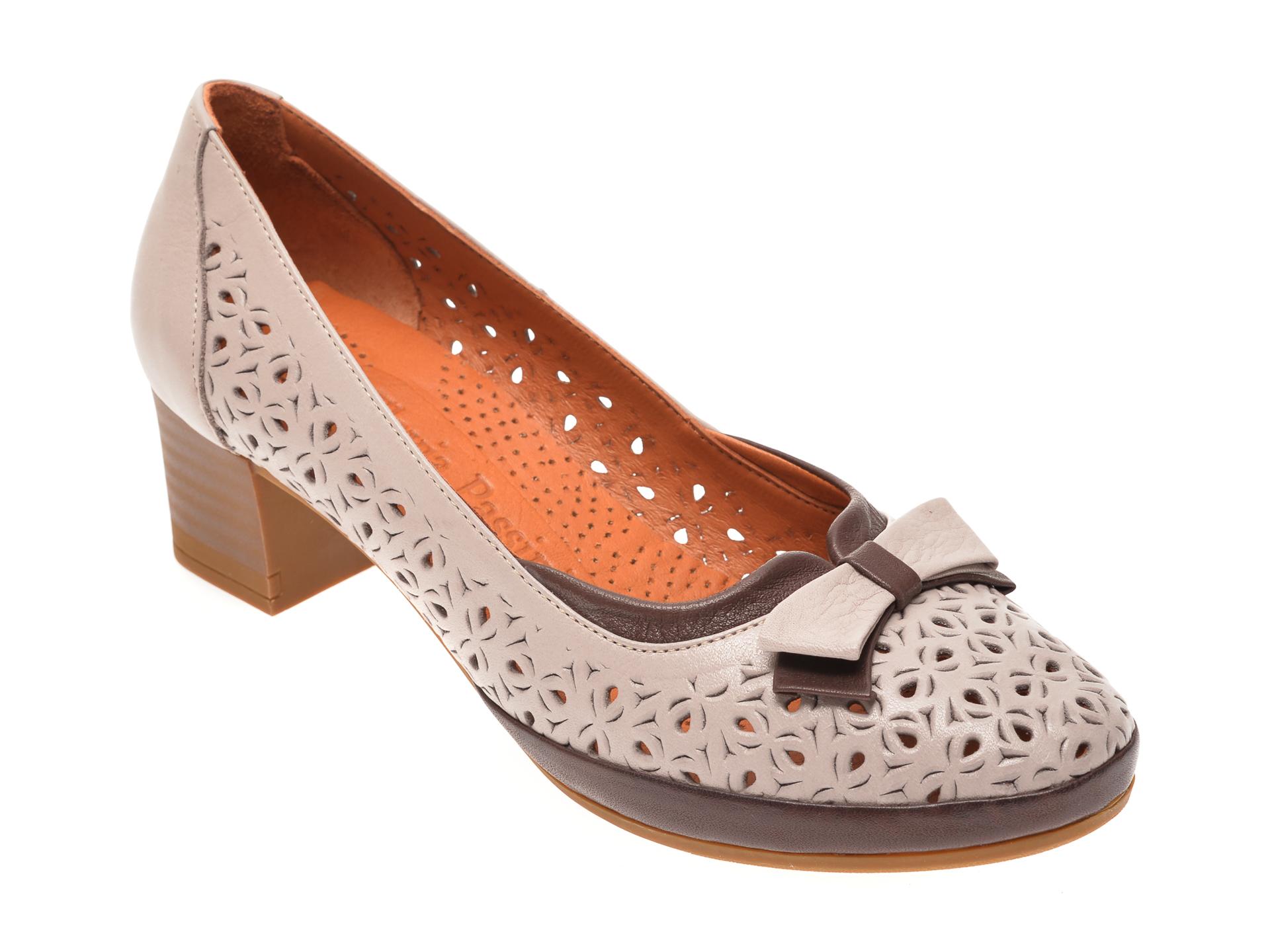 Pantofi FLAVIA PASSINI gri, 010637, din piele naturala
