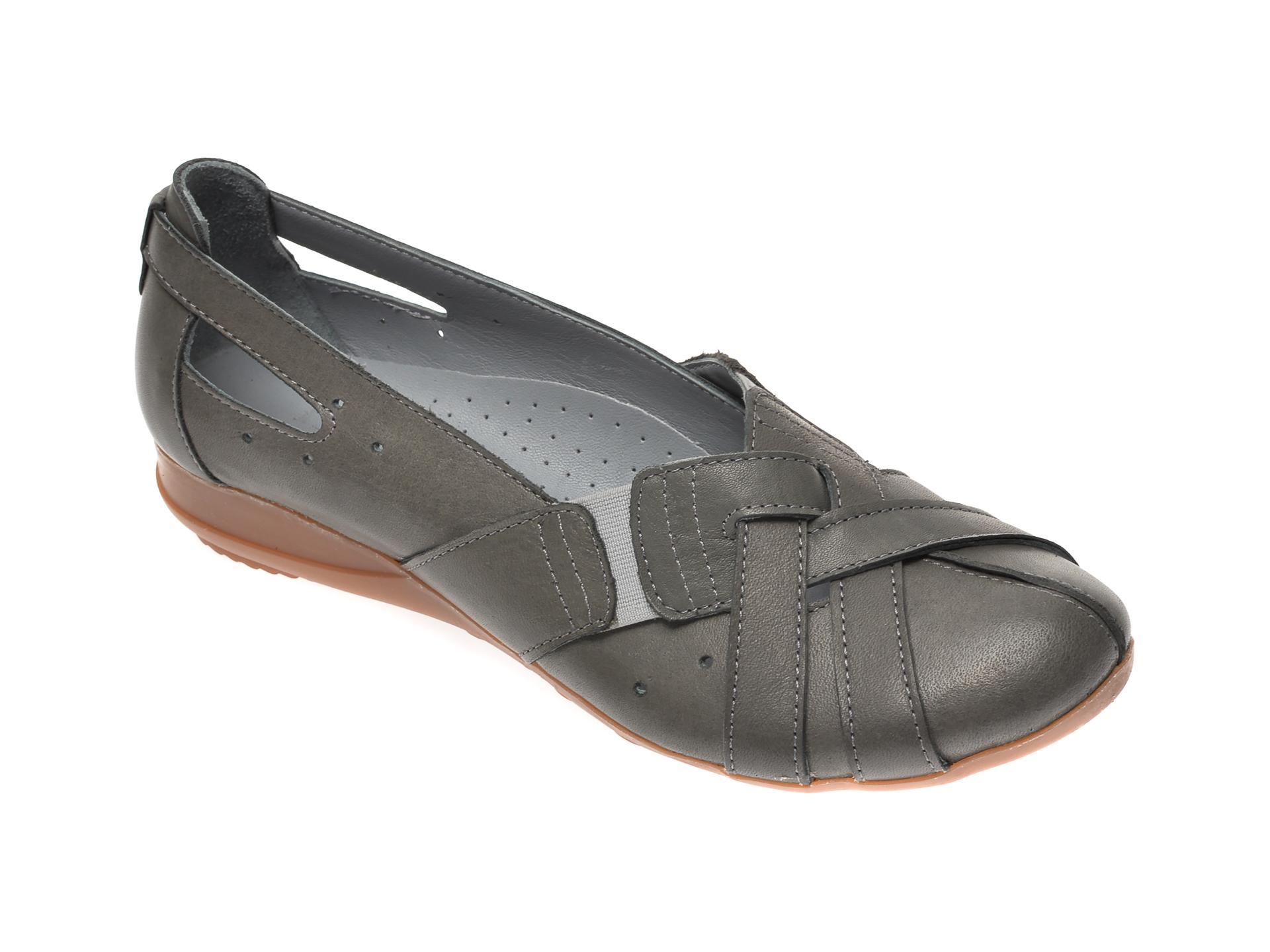 Pantofi FLAVIA PASSINI gri, 0301, din piele naturala