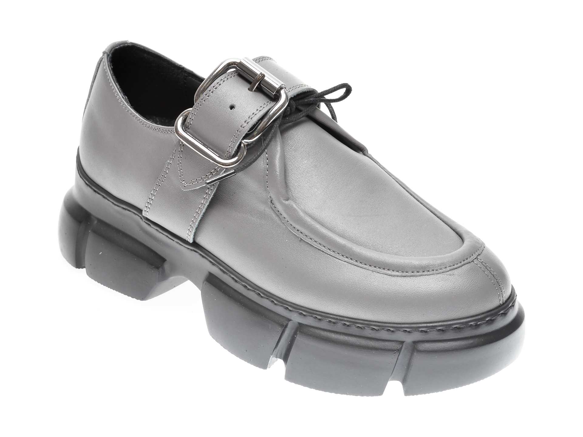 Pantofi FLAVIA PASSINI gri, 1185342, din piele naturala imagine