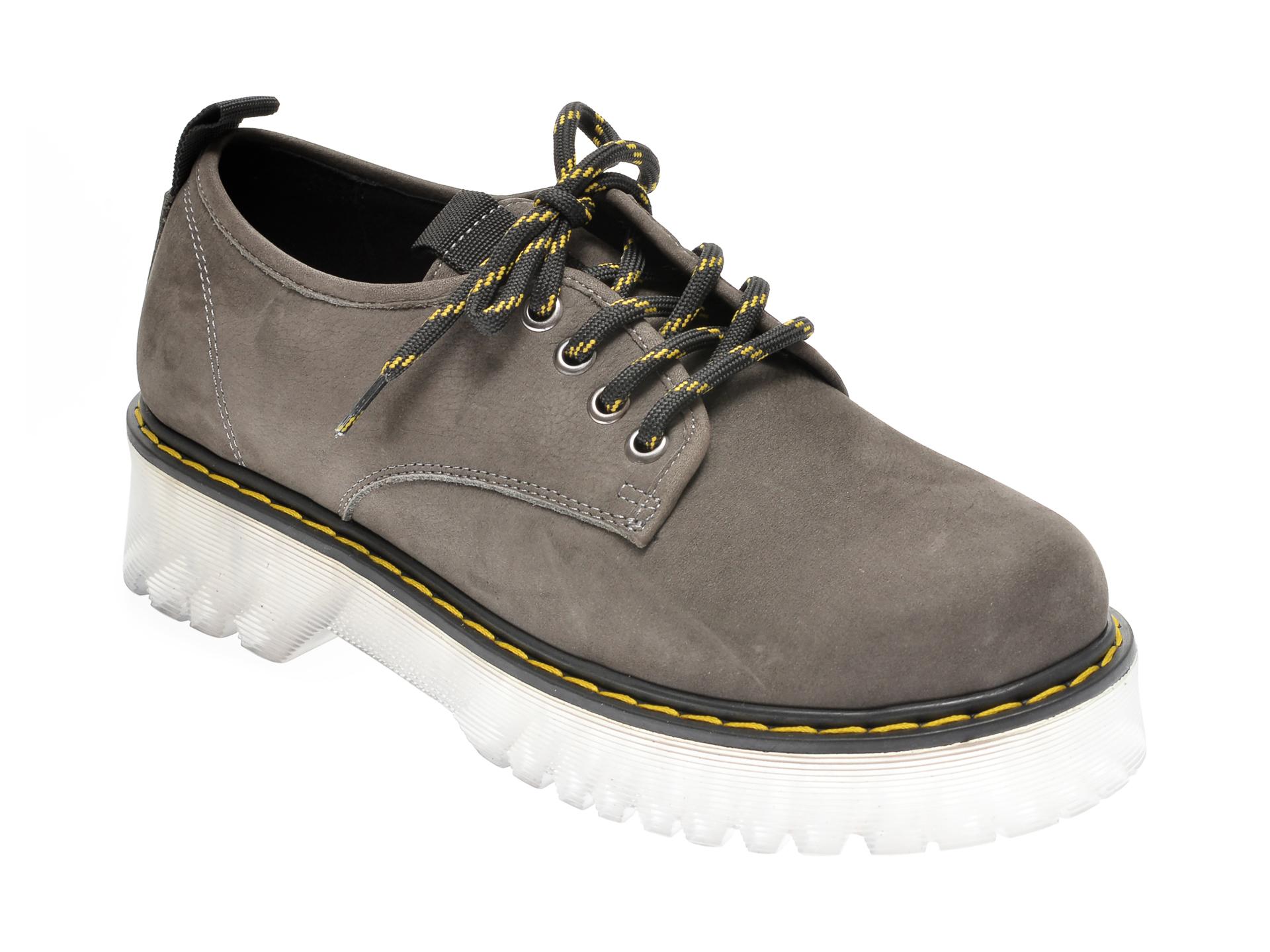 Pantofi FLAVIA PASSINI gri, 1185378, din nabuc imagine
