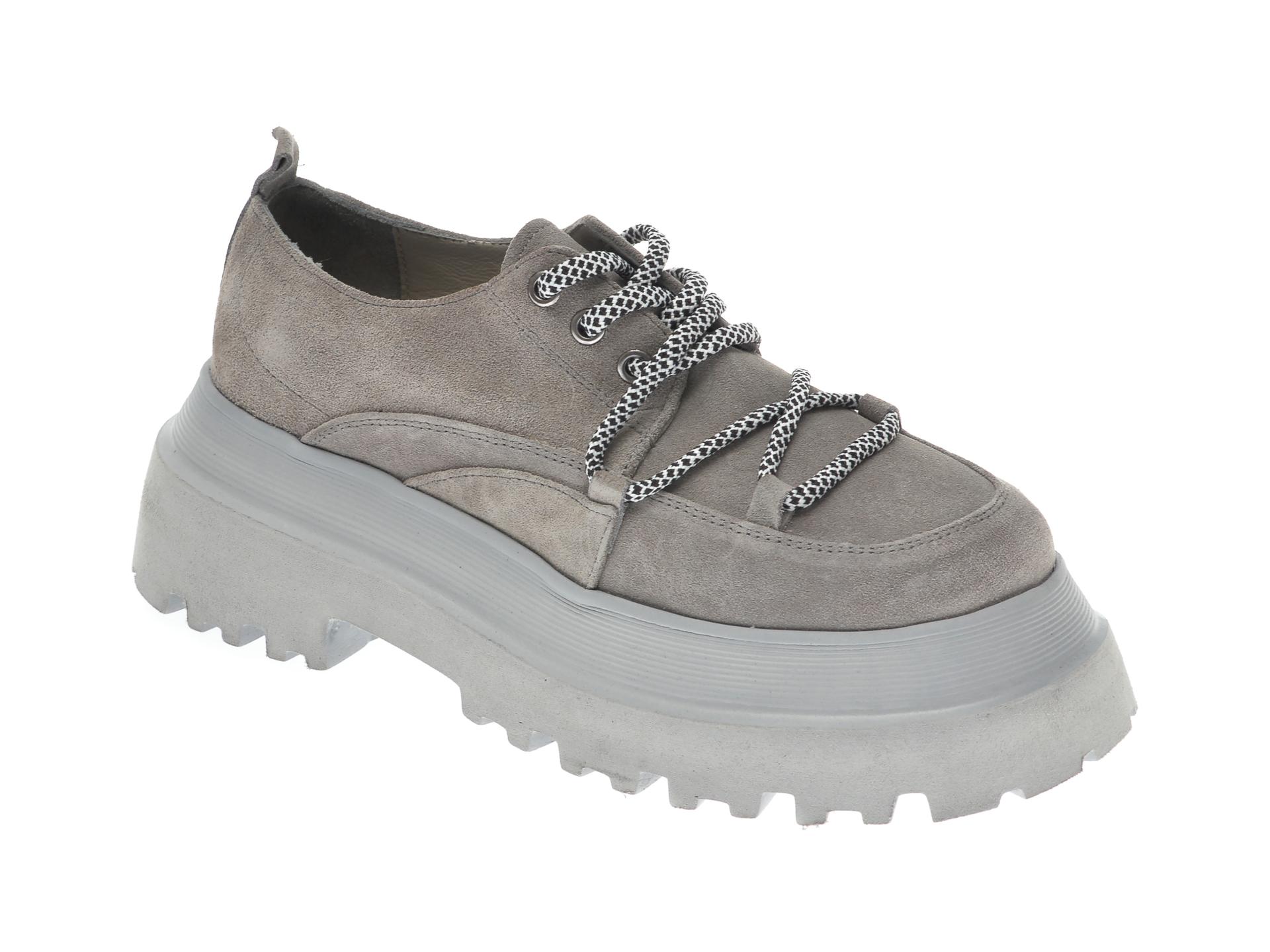 Pantofi FLAVIA PASSINI gri, 11903, din piele intoarsa imagine