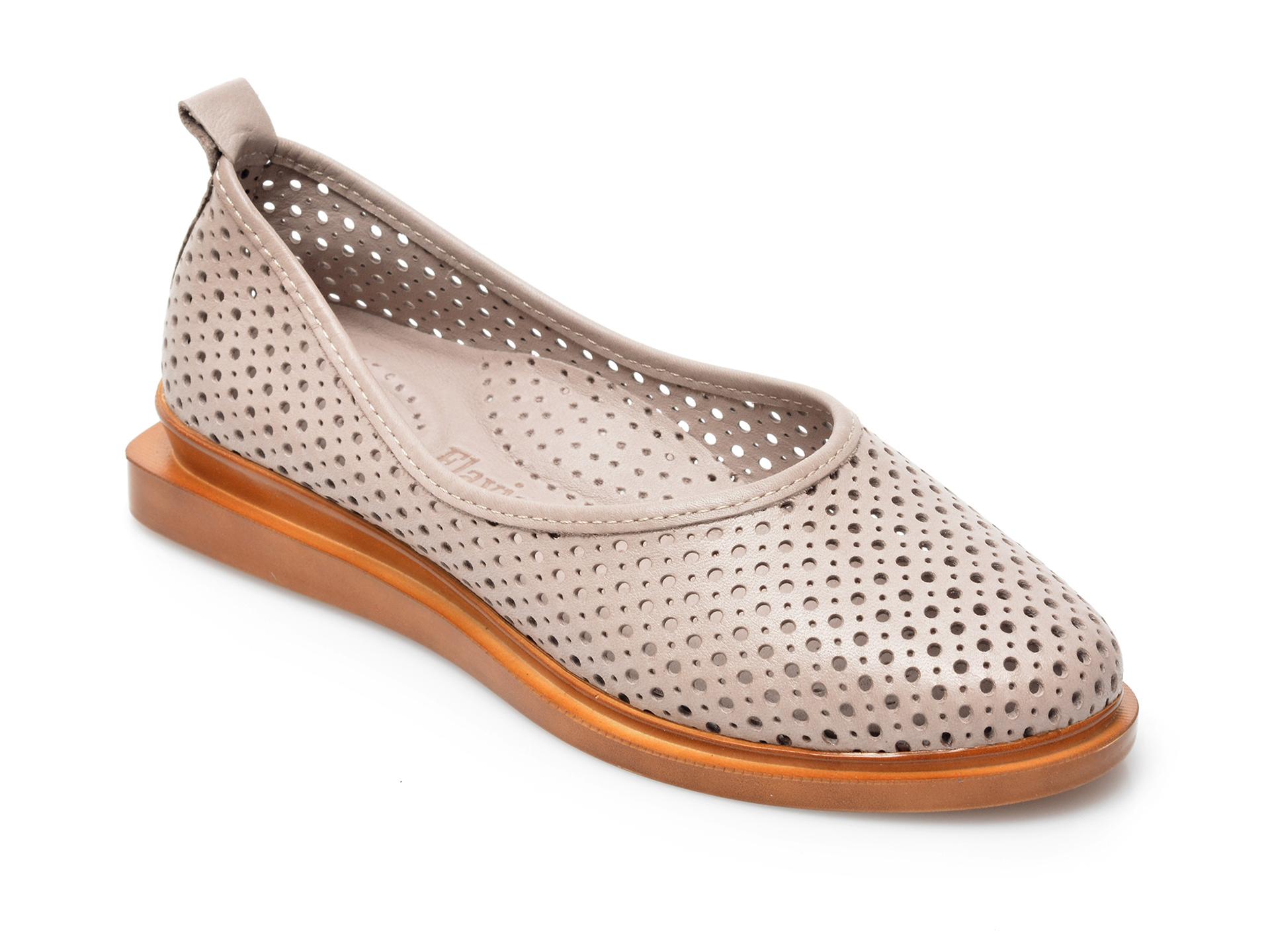 Pantofi FLAVIA PASSINI gri, 164374, din piele naturala imagine otter.ro 2021