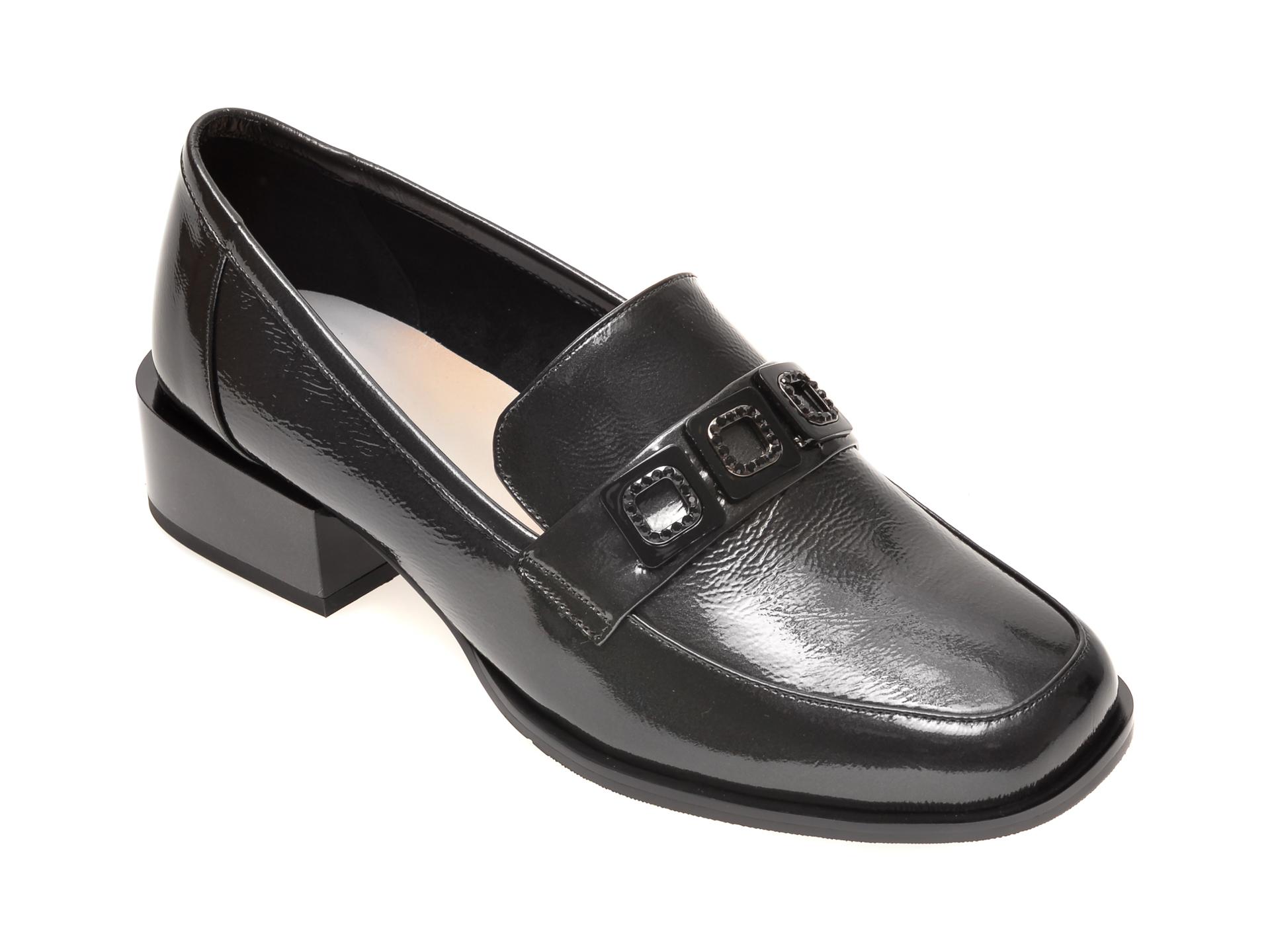 Pantofi FLAVIA PASSINI gri, 18J404D, din piele naturala lacuita imagine