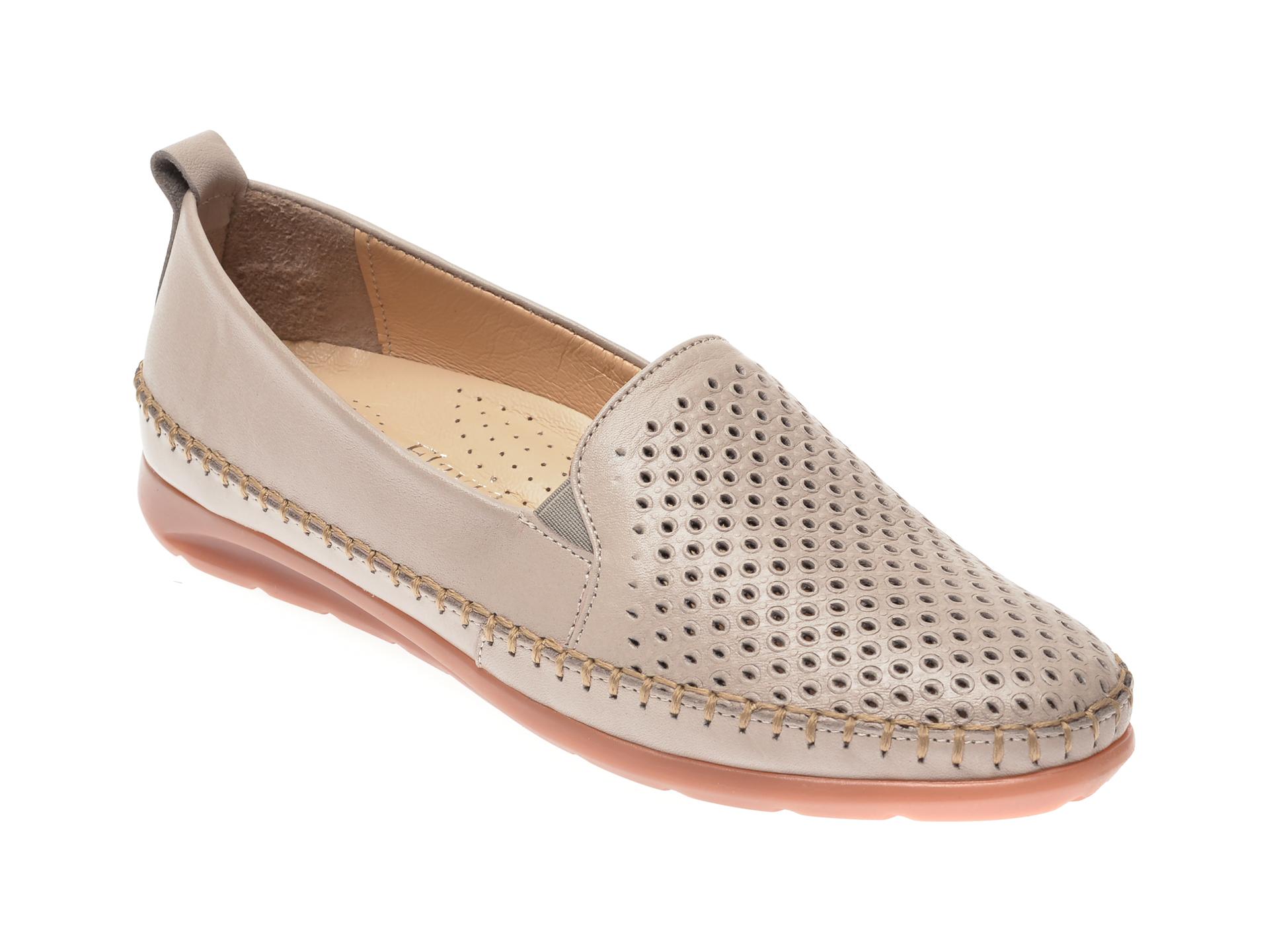 Pantofi FLAVIA PASSINI gri, 19305, din piele naturala