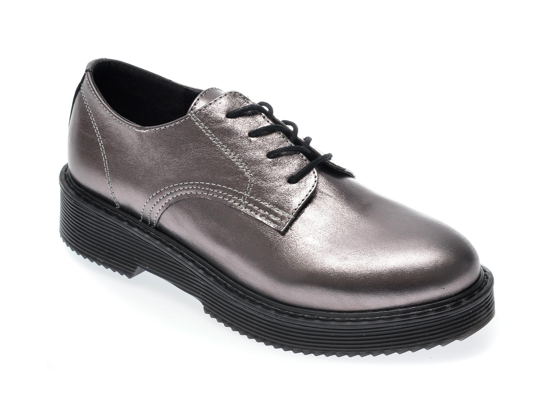 Pantofi FLAVIA PASSINI gri, 2030, din piele naturala imagine otter.ro