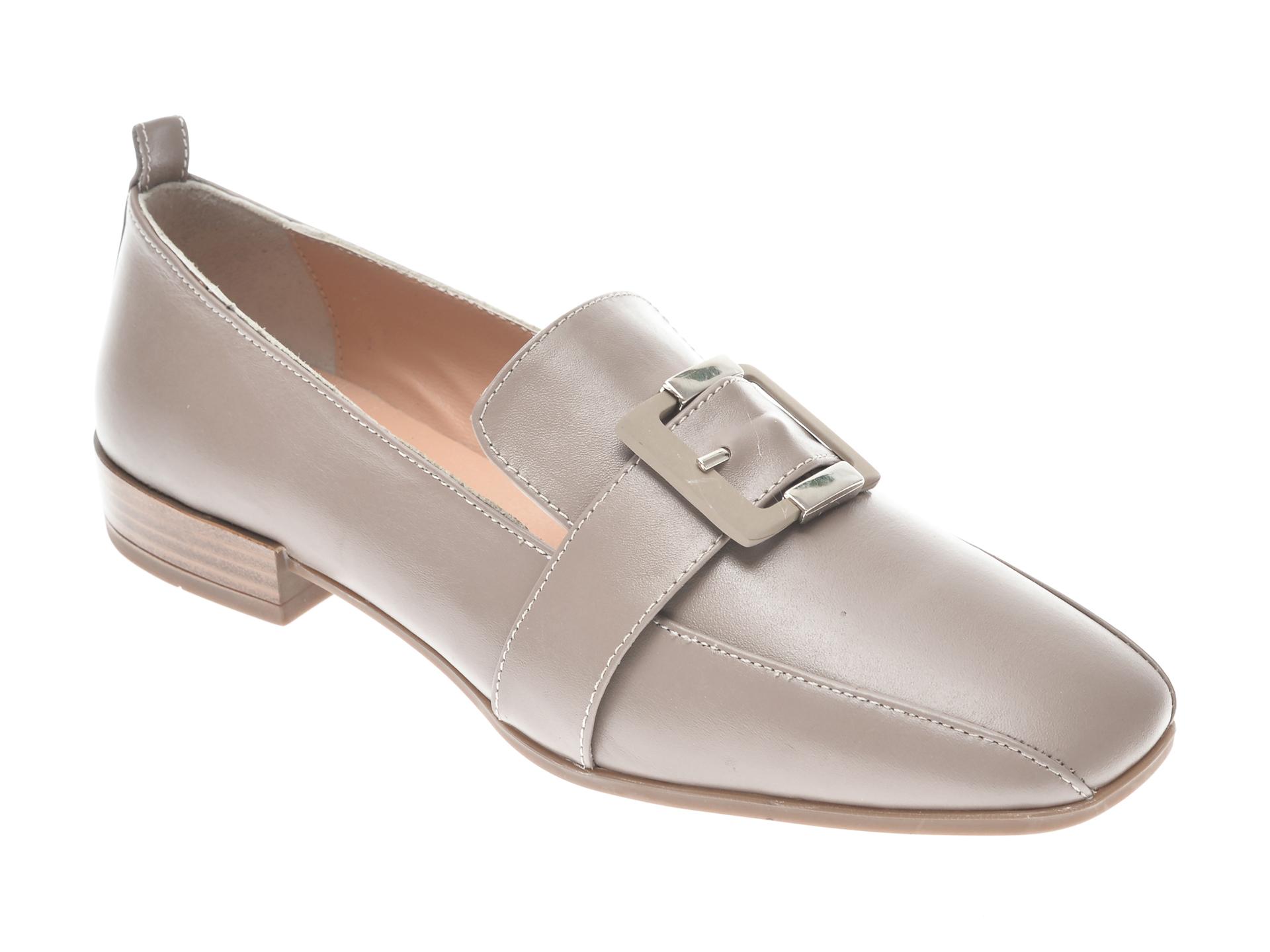 Pantofi FLAVIA PASSINI gri, 22209, din piele naturala imagine