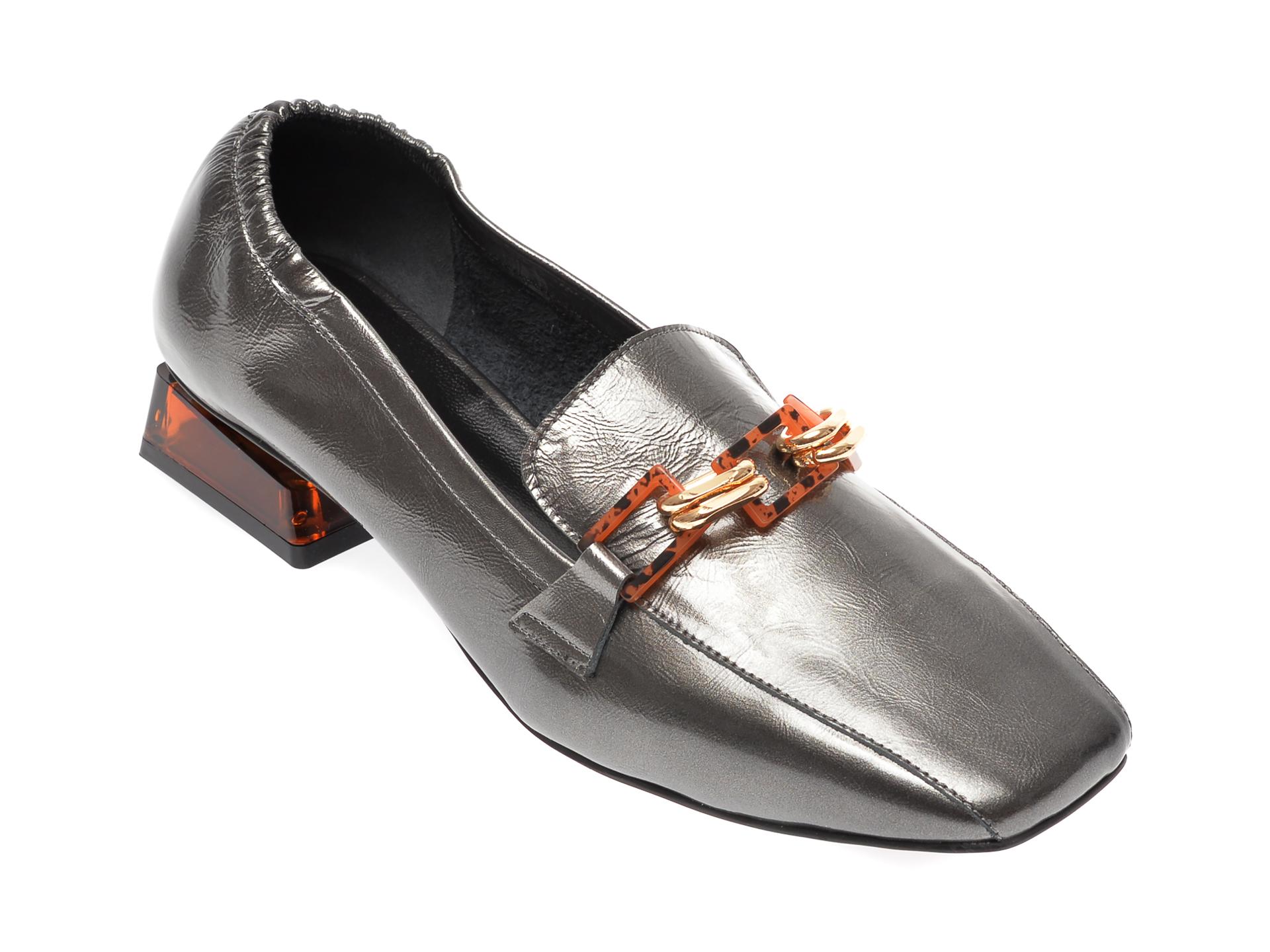 Pantofi FLAVIA PASSINI gri, 236020L, din piele naturala lacuita