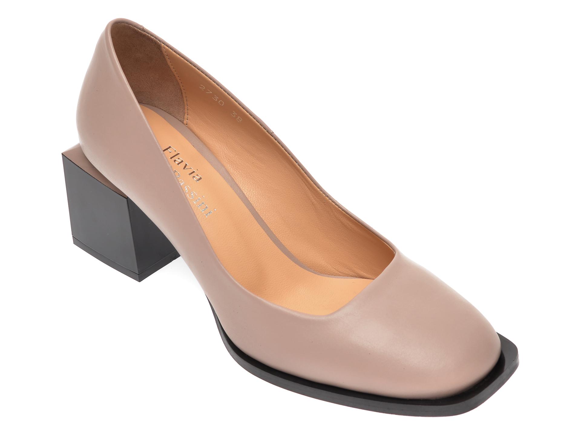 Pantofi FLAVIA PASSINI gri, 273020L, din piele naturala