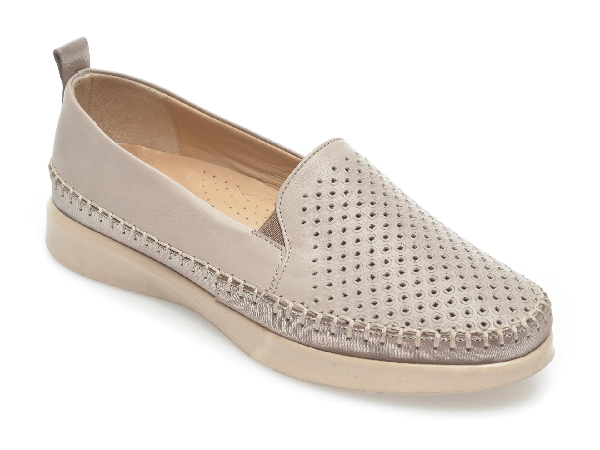 Pantofi FLAVIA PASSINI gri, 305, din piele naturala imagine otter.ro 2021