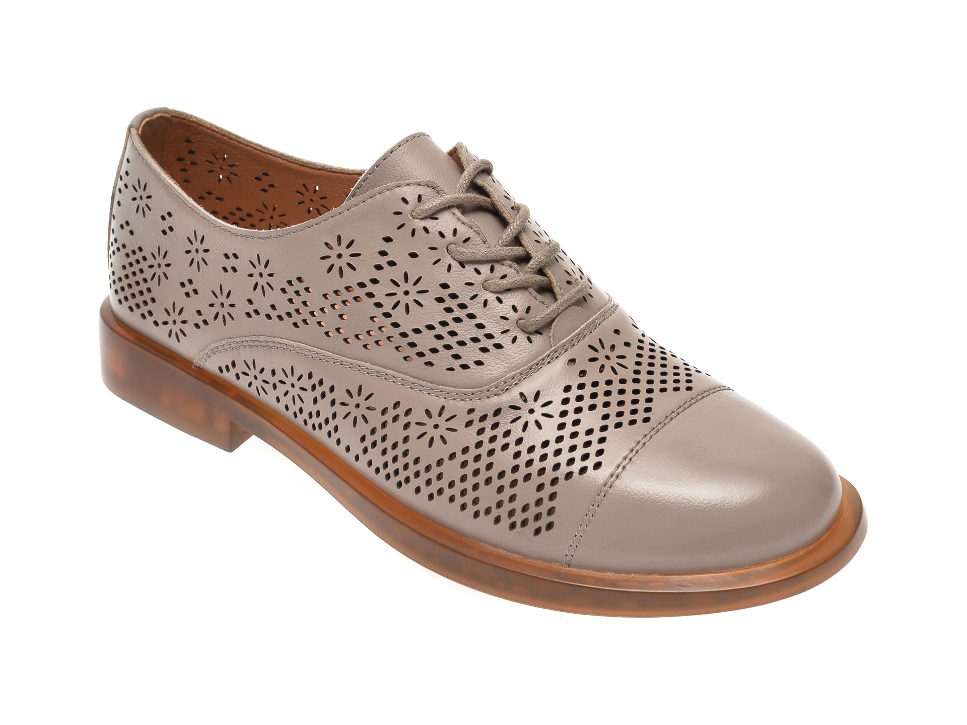Pantofi FLAVIA PASSINI gri, 317K22, din piele naturala