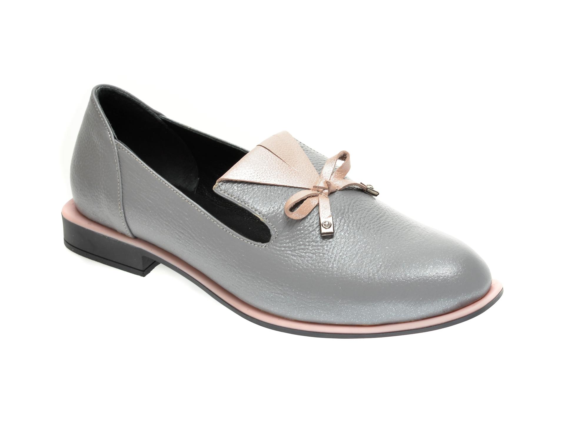 Pantofi FLAVIA PASSINI gri, 372029, din piele naturala imagine