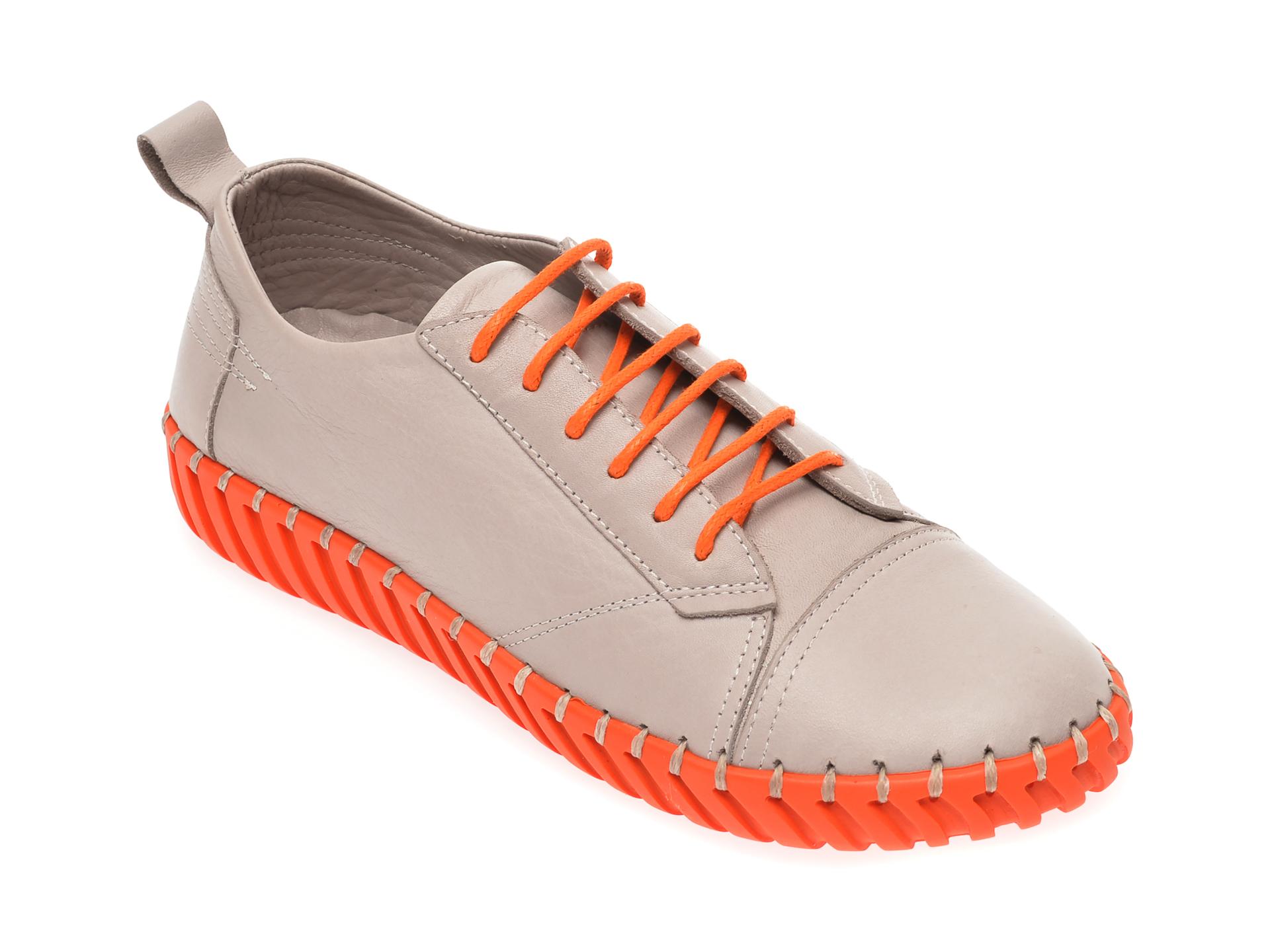 Pantofi FLAVIA PASSINI gri, 4261002, din piele naturala