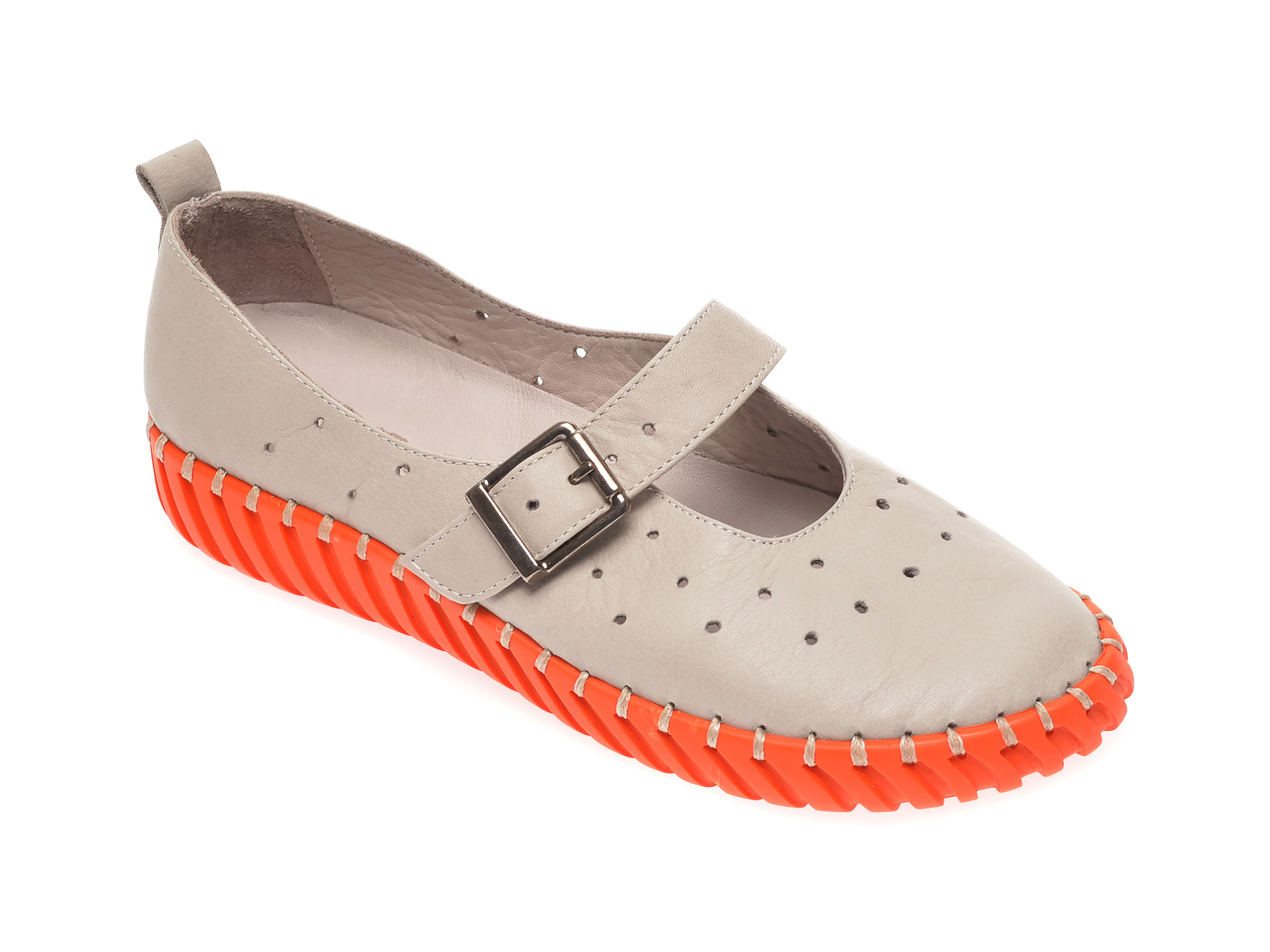 Pantofi FLAVIA PASSINI gri, 4261009, din piele naturala
