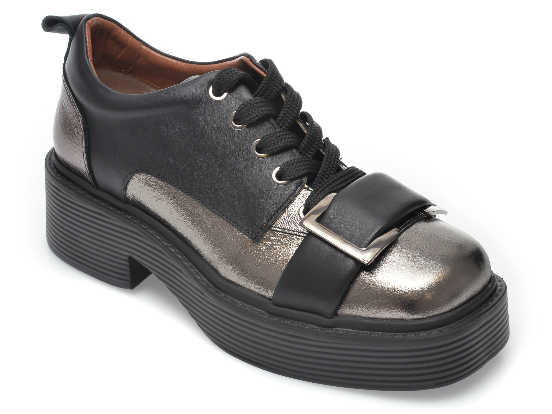 Pantofi FLAVIA PASSINI gri, 4582025, din piele naturala imagine otter.ro