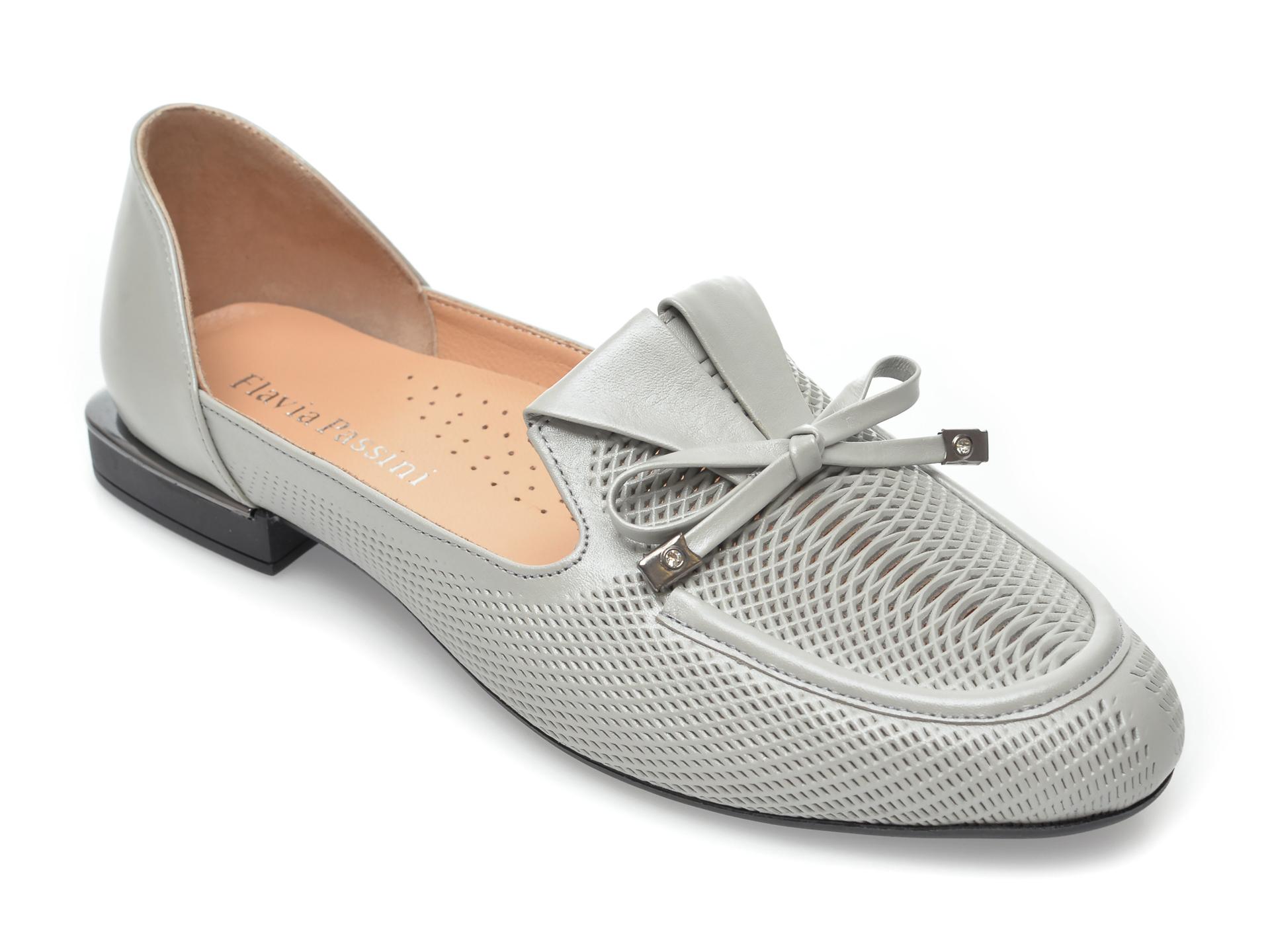 Pantofi FLAVIA PASSINI gri, 5233, din piele naturala imagine otter.ro 2021