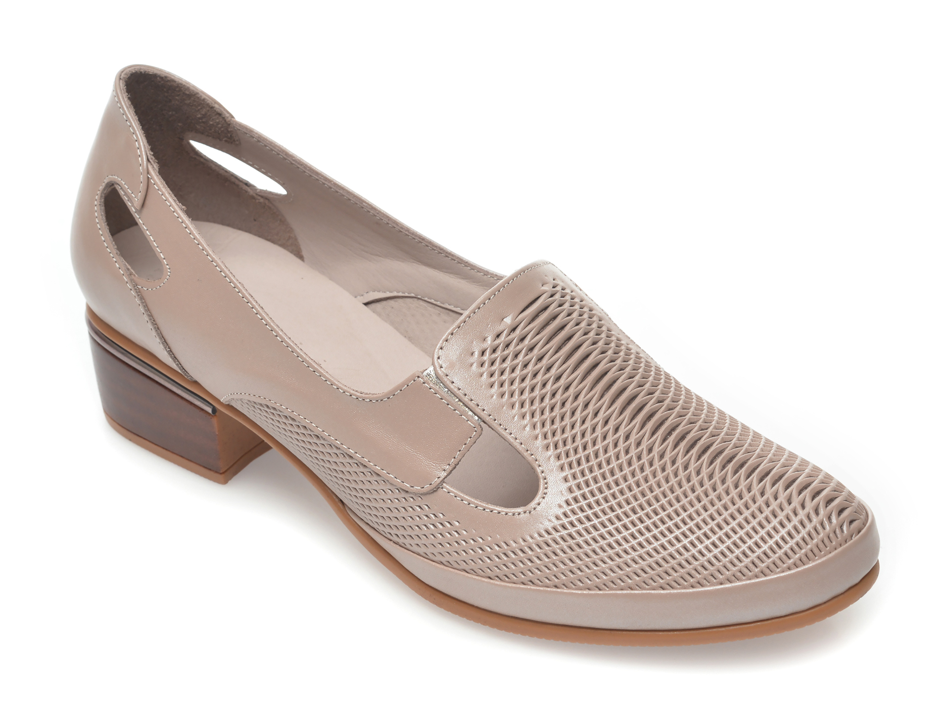 Pantofi FLAVIA PASSINI gri, 5332, din piele naturala imagine otter.ro