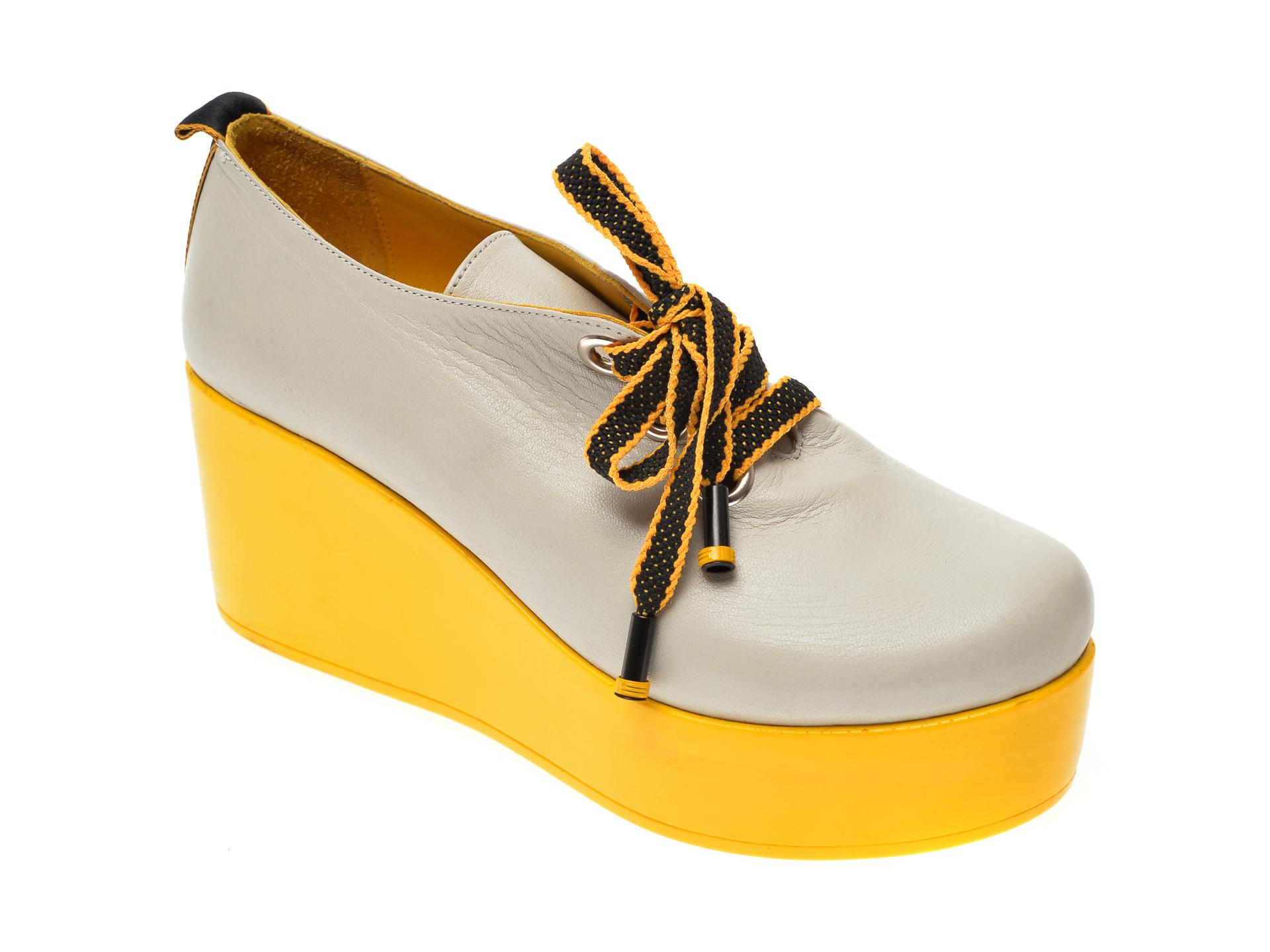 Pantofi FLAVIA PASSINI gri, 6292161, din piele naturala