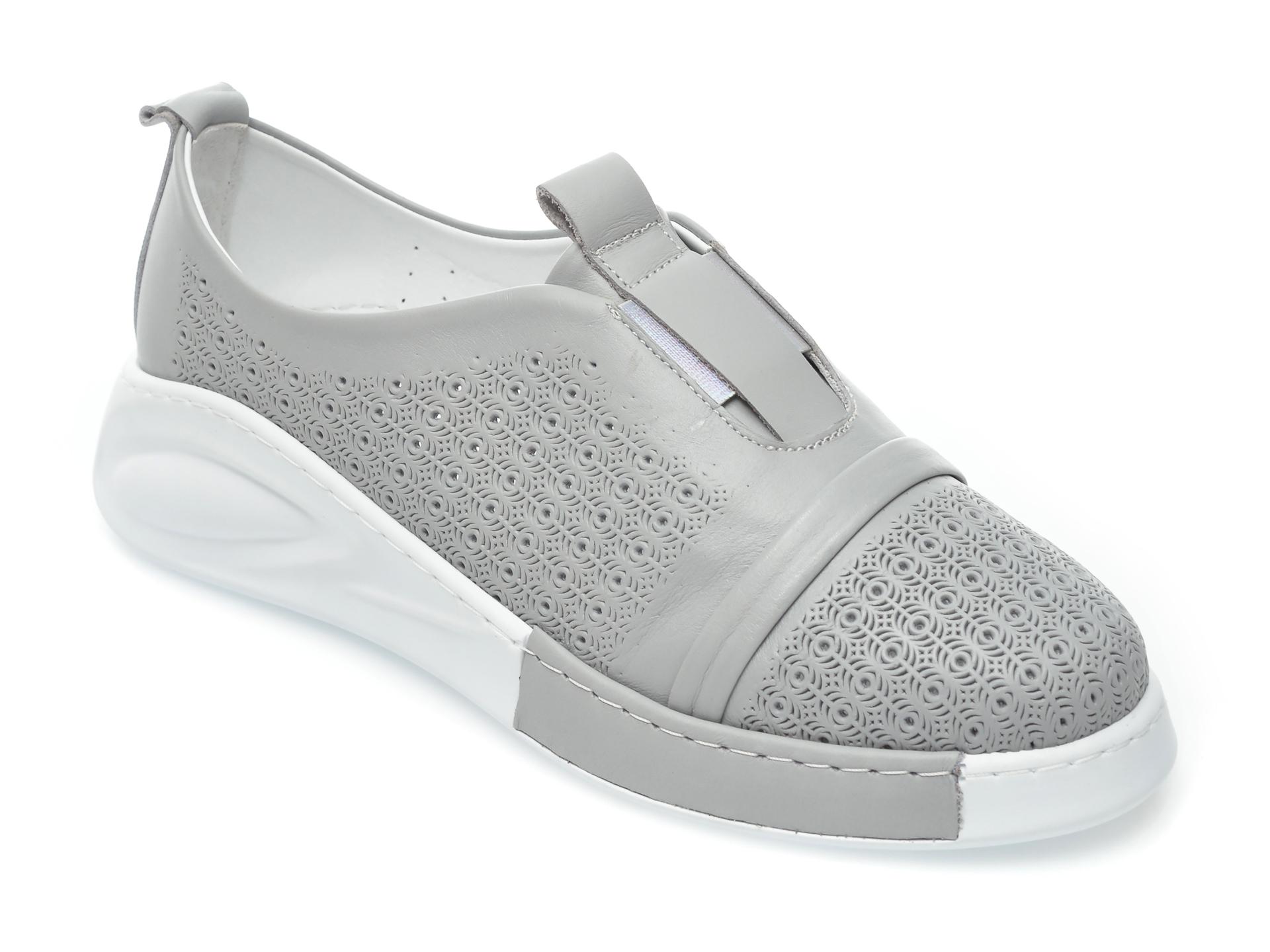 Pantofi FLAVIA PASSINI gri, 645200, din piele naturala imagine otter.ro 2021