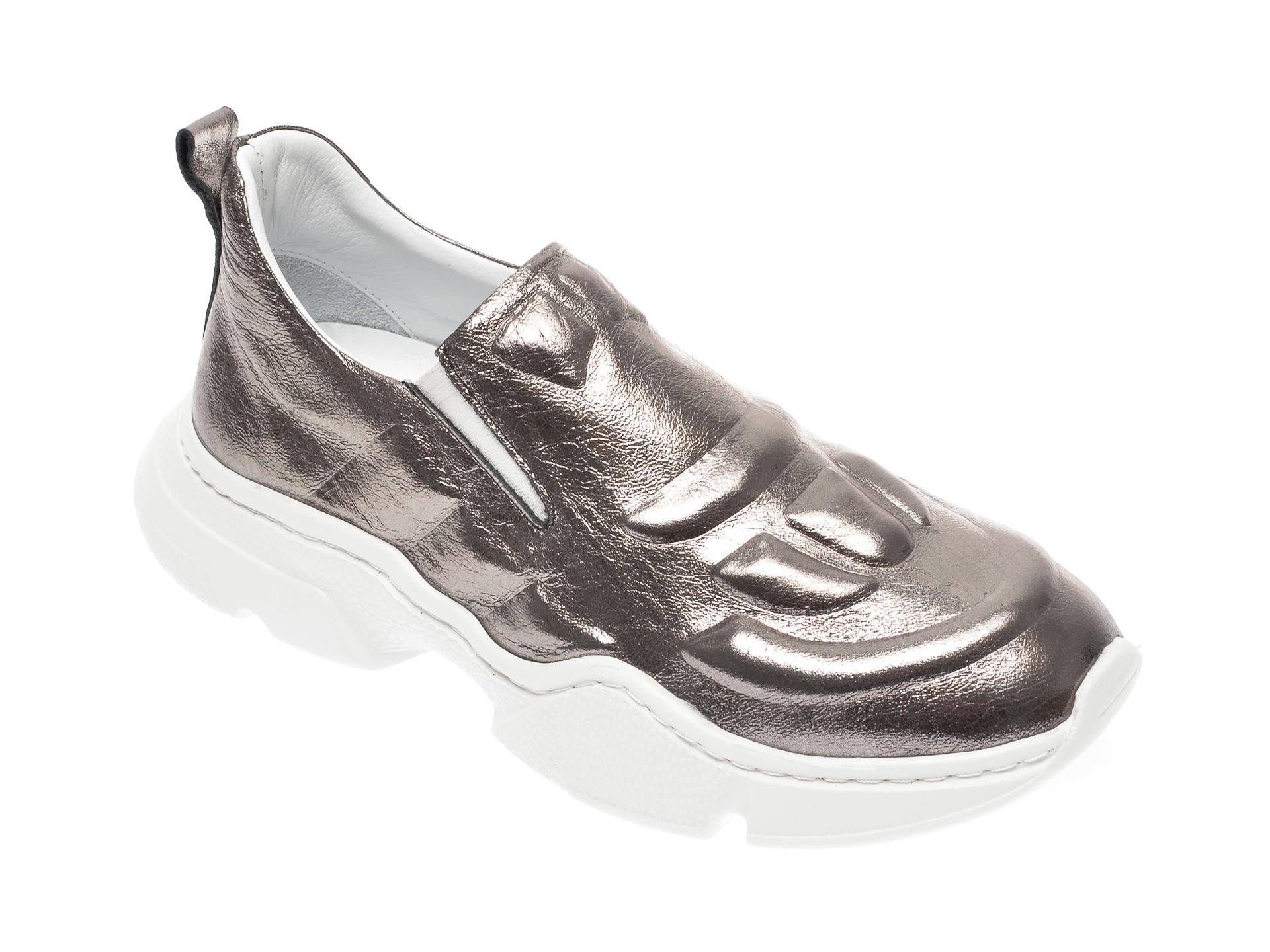Pantofi FLAVIA PASSINI gri, 7435071, din piele naturala