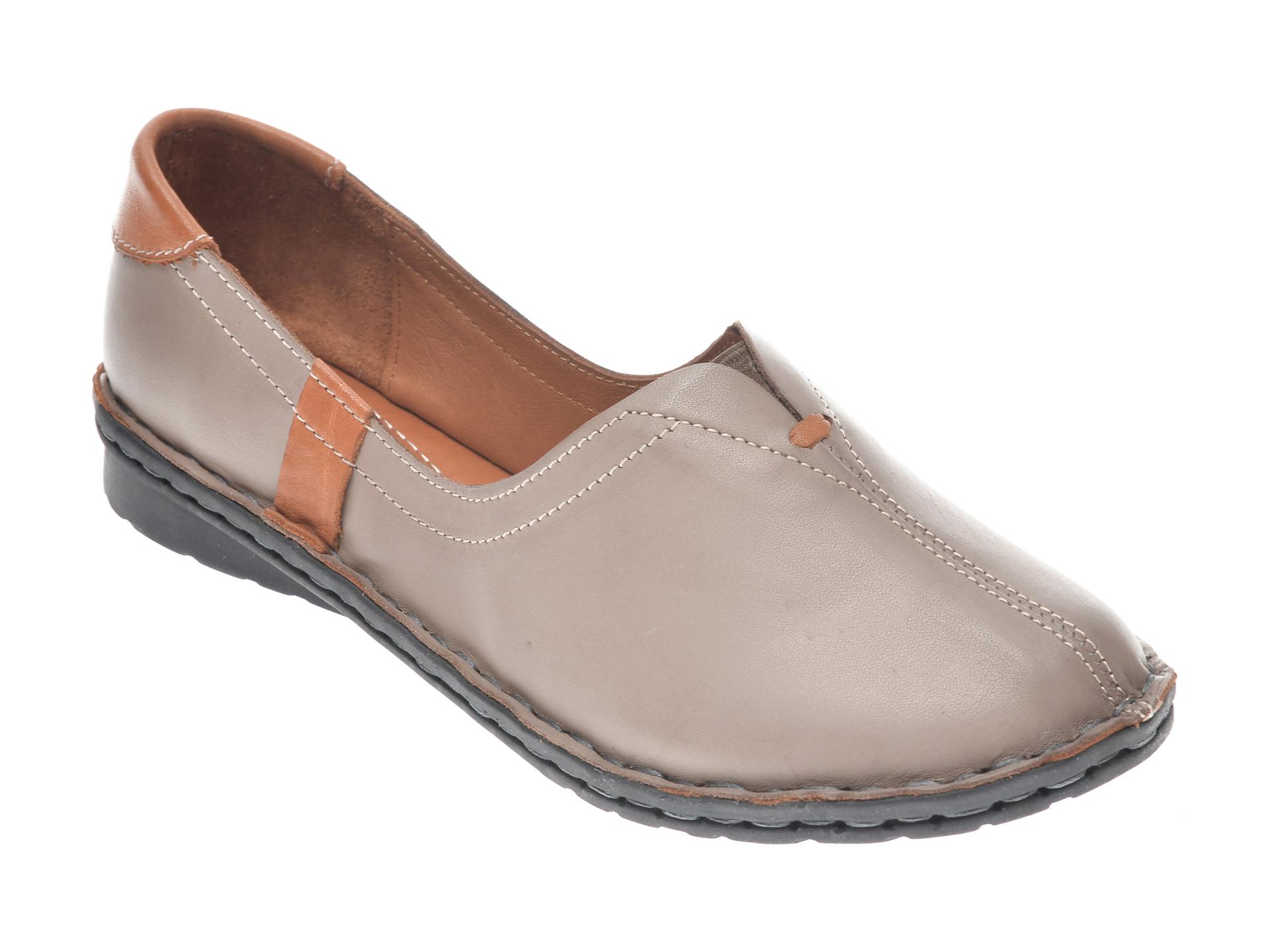 Pantofi FLAVIA PASSINI gri, 952405, din piele naturala imagine