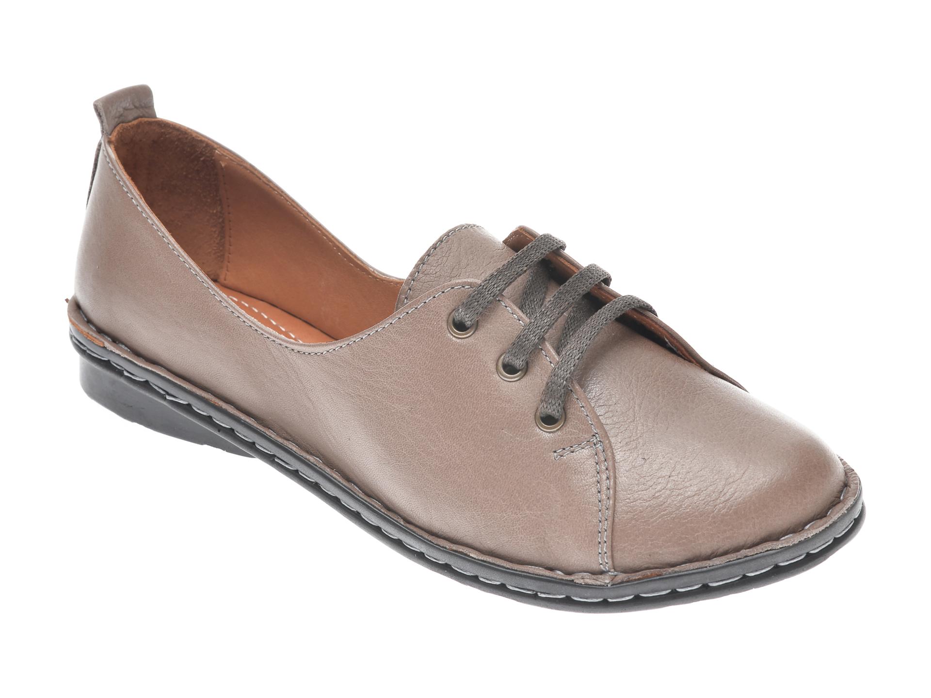 Pantofi FLAVIA PASSINI gri, 952422, din piele naturala imagine