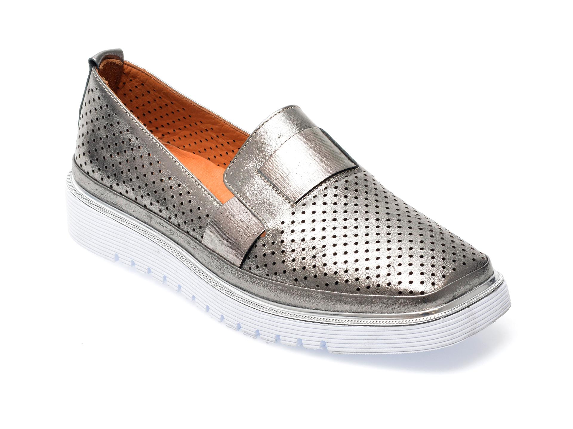 Pantofi FLAVIA PASSINI gri, 993101, din piele naturala imagine otter.ro 2021