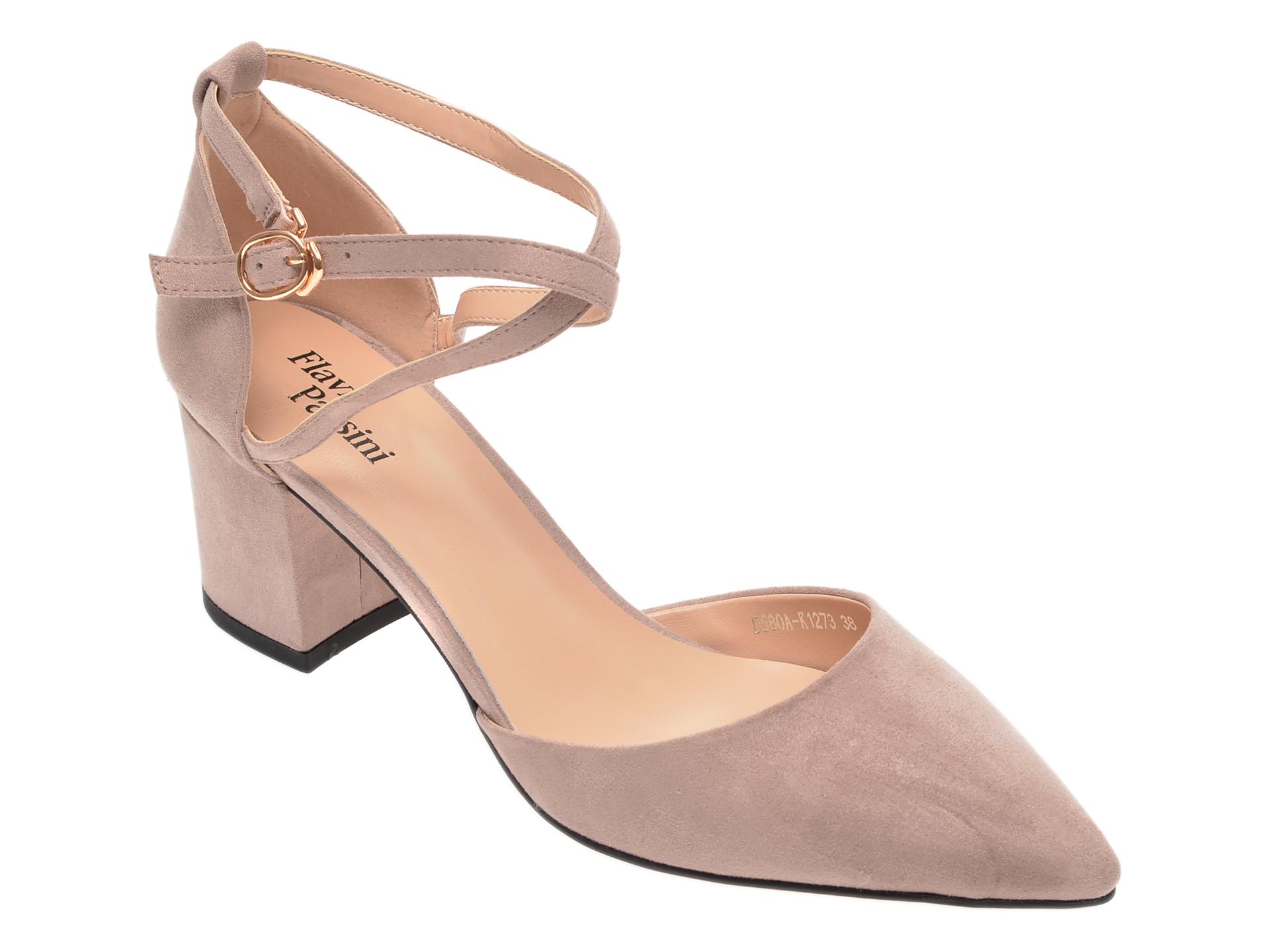 Pantofi FLAVIA PASSINI gri, D580AK1, din piele ecologica imagine