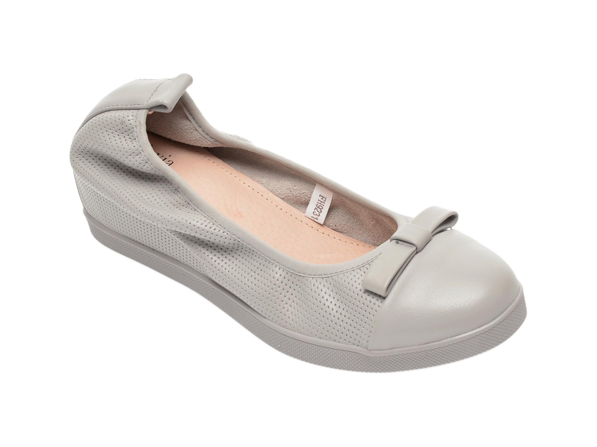 Pantofi FLAVIA PASSINI gri, FH92317, din piele naturala imagine