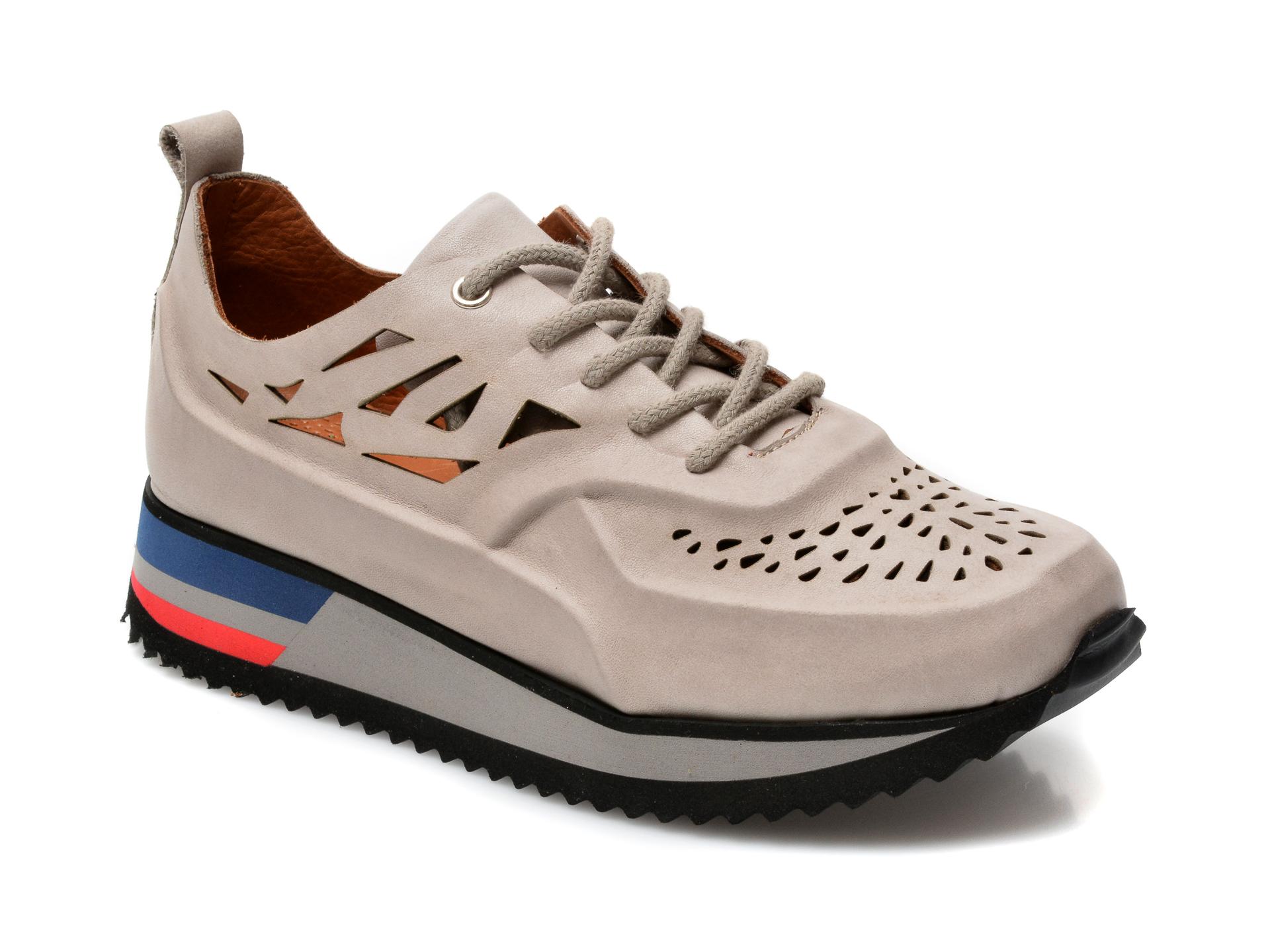 Pantofi FLAVIA PASSINI gri, V1775A, din piele naturala imagine otter.ro 2021