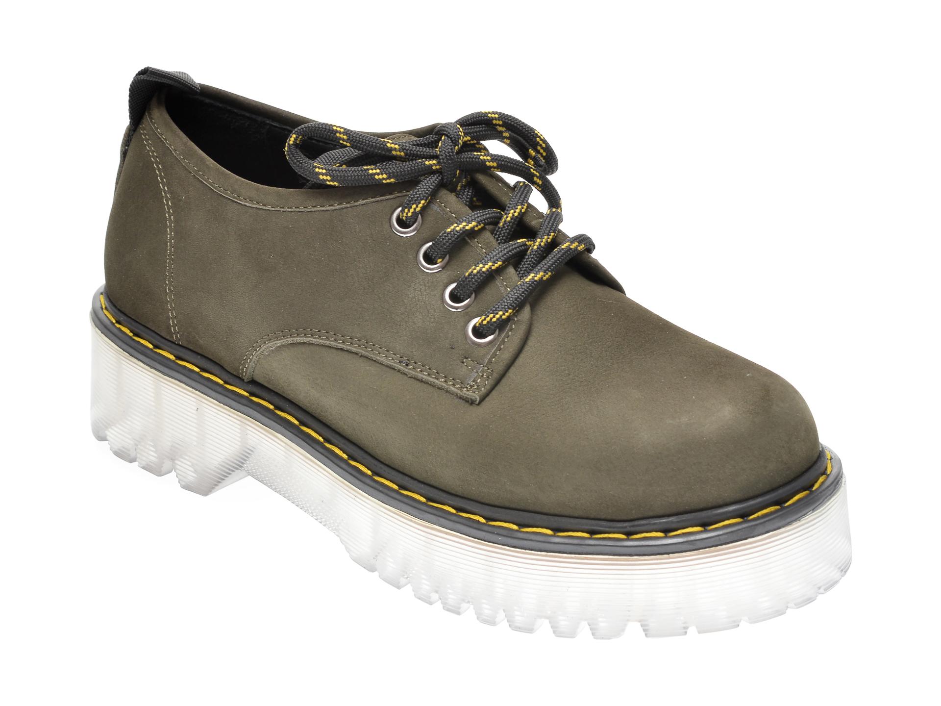 Pantofi FLAVIA PASSINI kaki, 1185378, din nabuc imagine