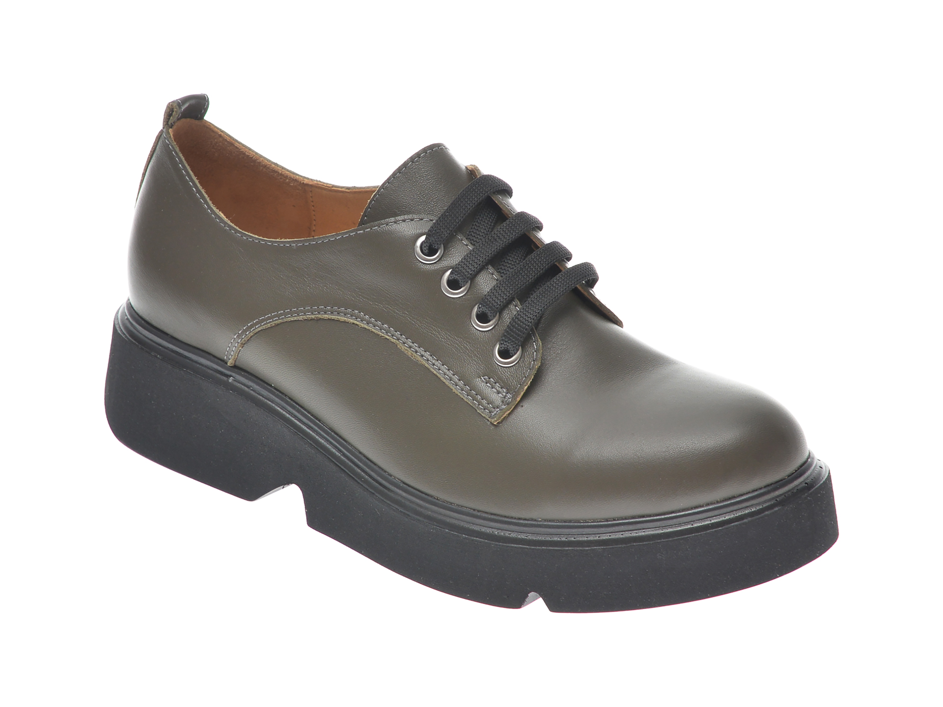 Pantofi FLAVIA PASSINI kaki, 1241319, din piele naturala imagine otter.ro