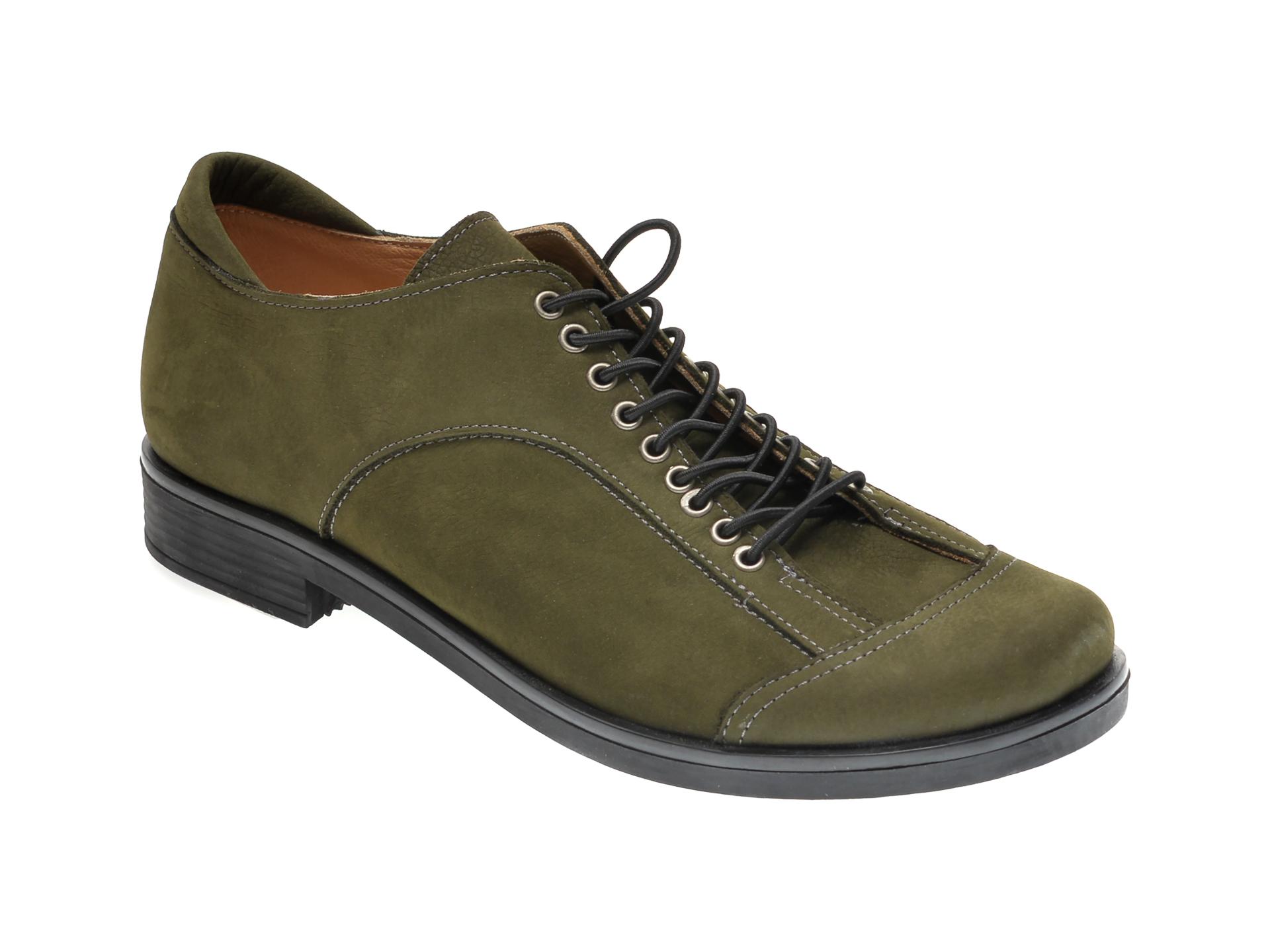 Pantofi FLAVIA PASSINI kaki, 1243852, din nabuc imagine