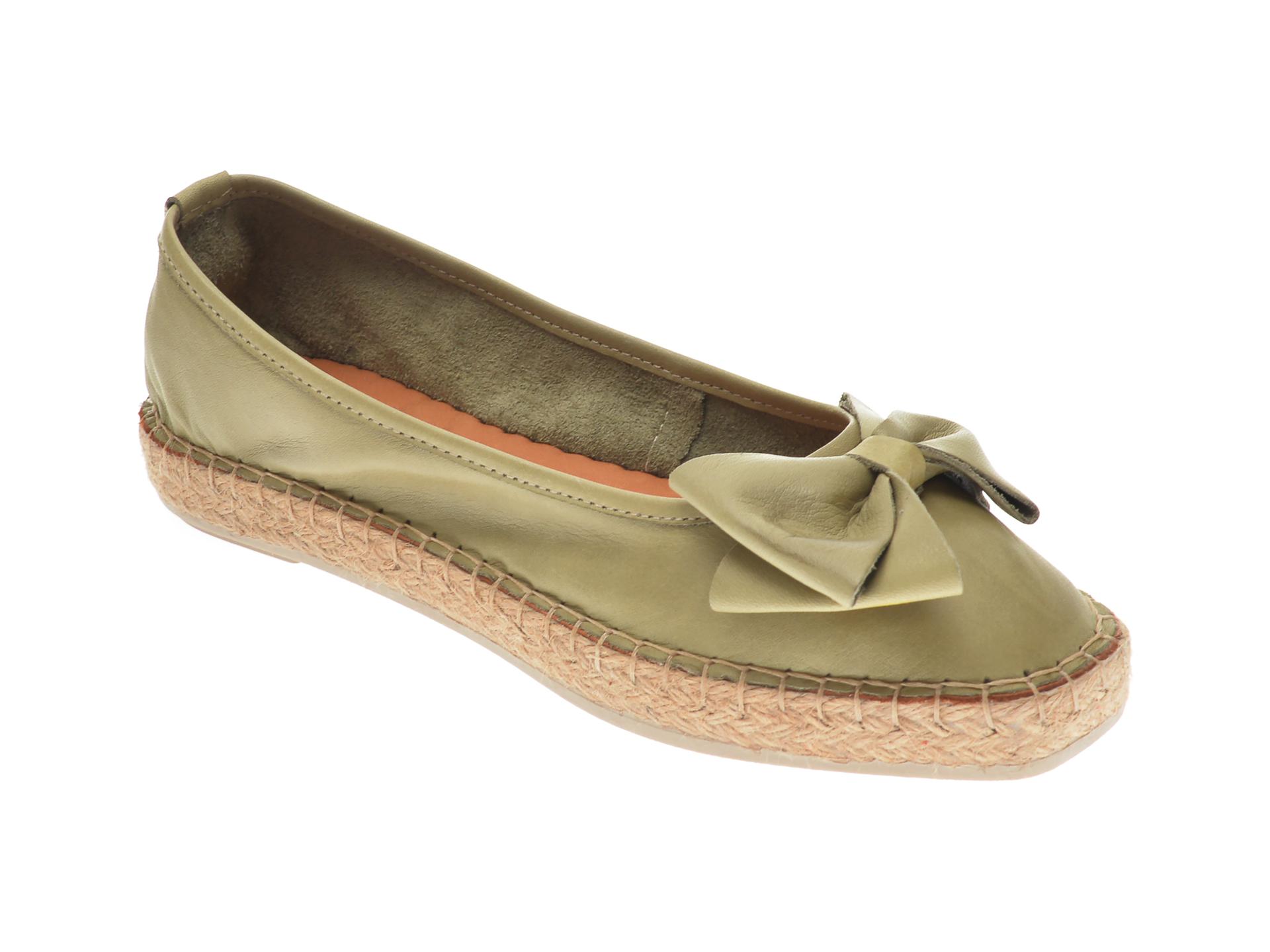 Pantofi FLAVIA PASSINI kaki, 21Y504, din piele naturala New