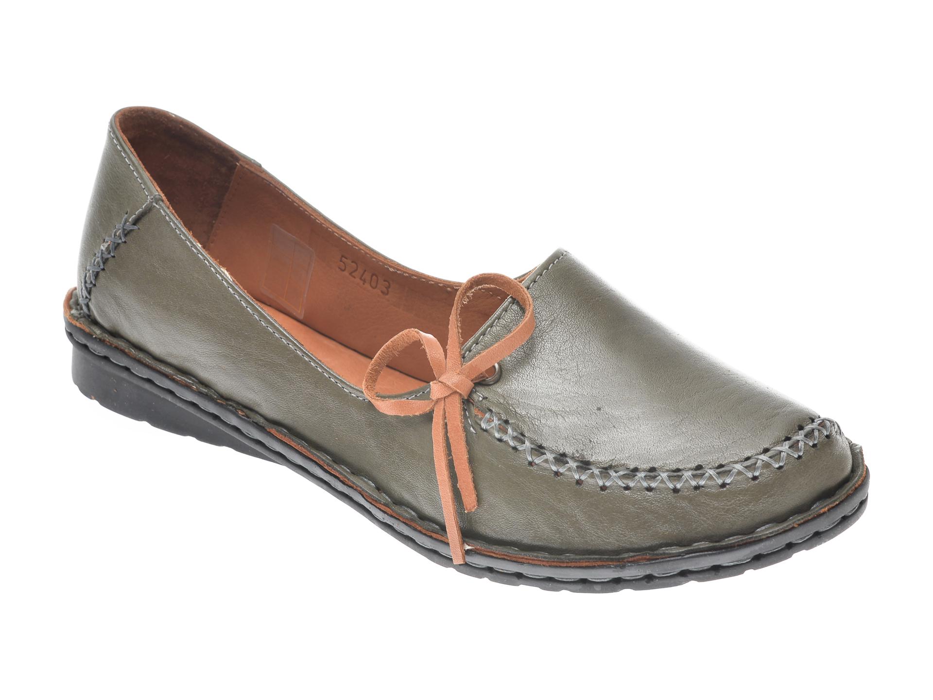 Pantofi FLAVIA PASSINI kaki, 952403, din piele naturala imagine
