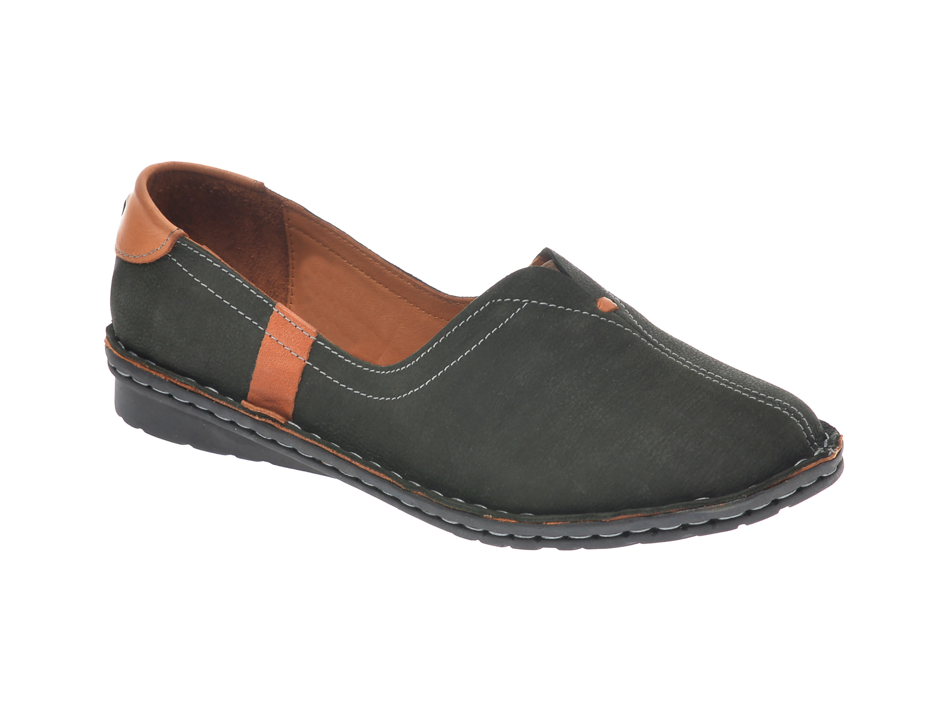 Pantofi FLAVIA PASSINI kaki, 952405, din nabuc imagine