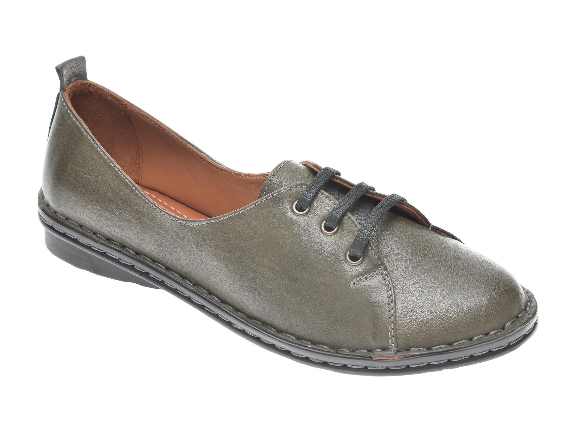 Pantofi FLAVIA PASSINI kaki, 952422, din piele naturala imagine
