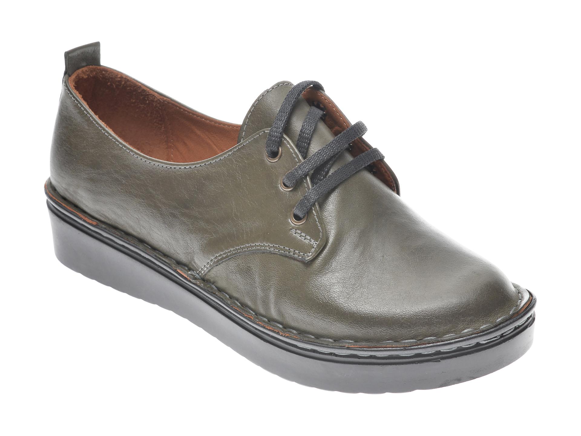 Pantofi FLAVIA PASSINI kaki, 953520, din piele naturala imagine