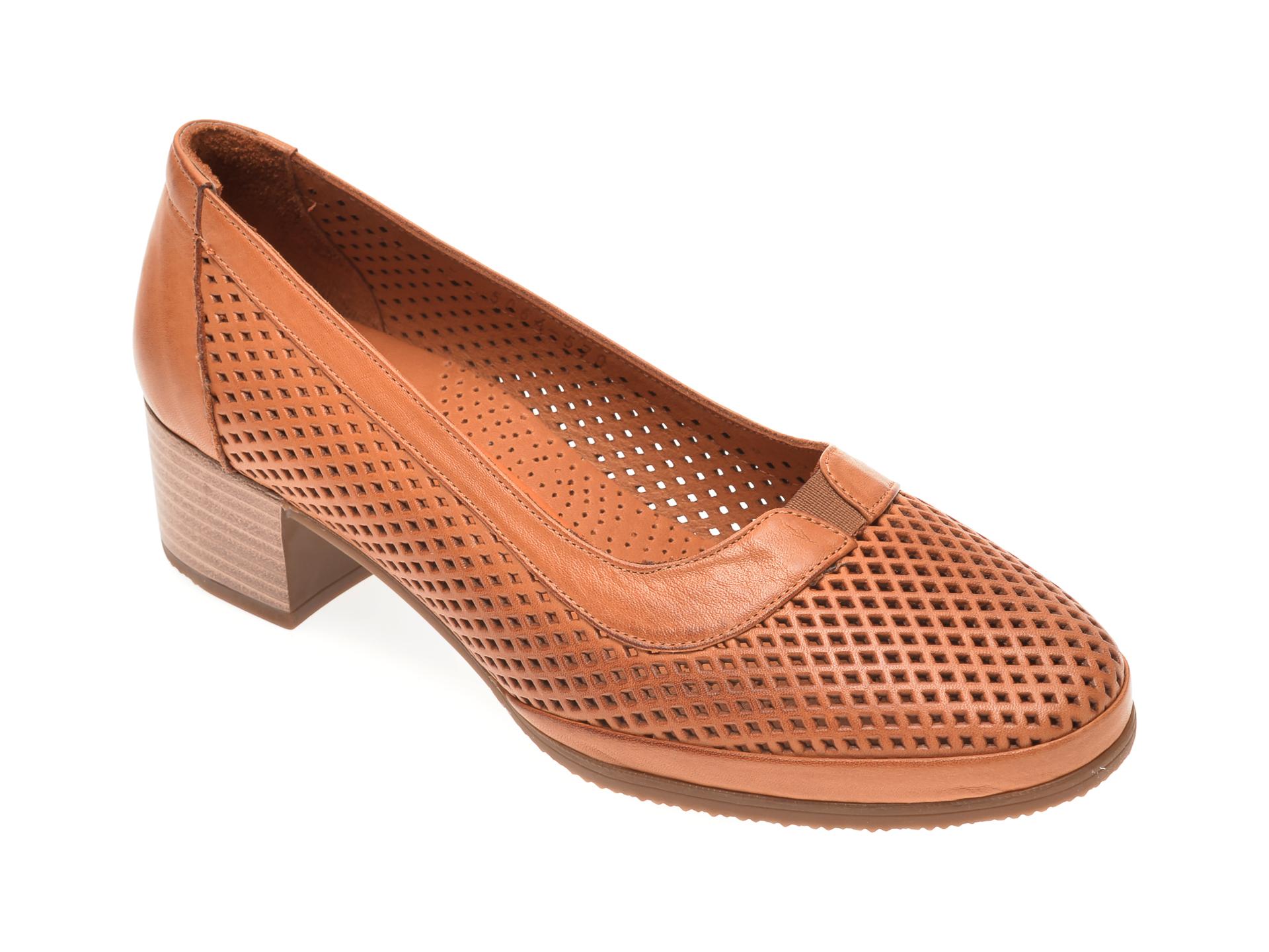 Pantofi FLAVIA PASSINI maro, 0105064, din piele naturala imagine
