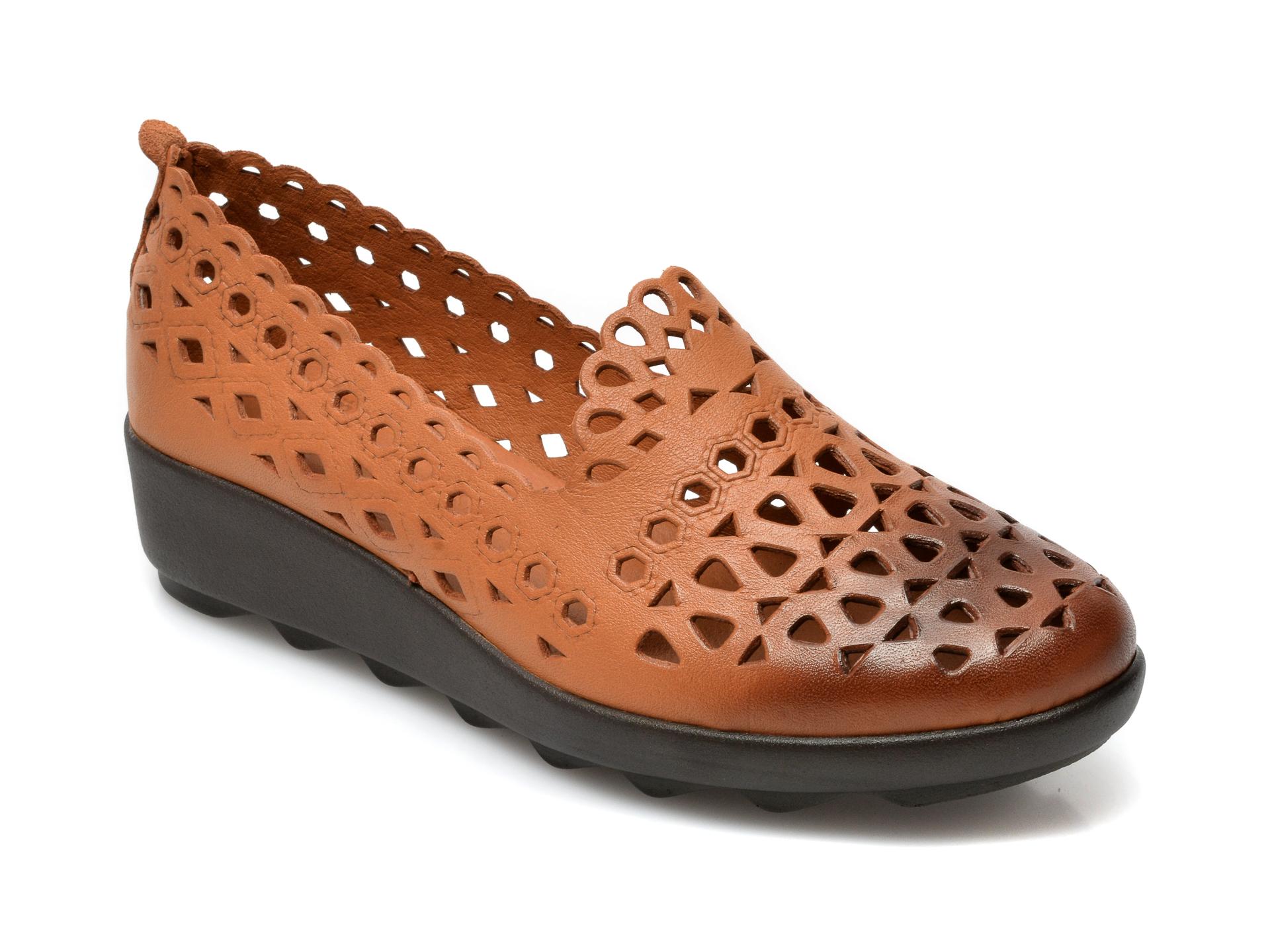 Pantofi FLAVIA PASSINI maro, 1011, din piele naturala imagine otter.ro 2021