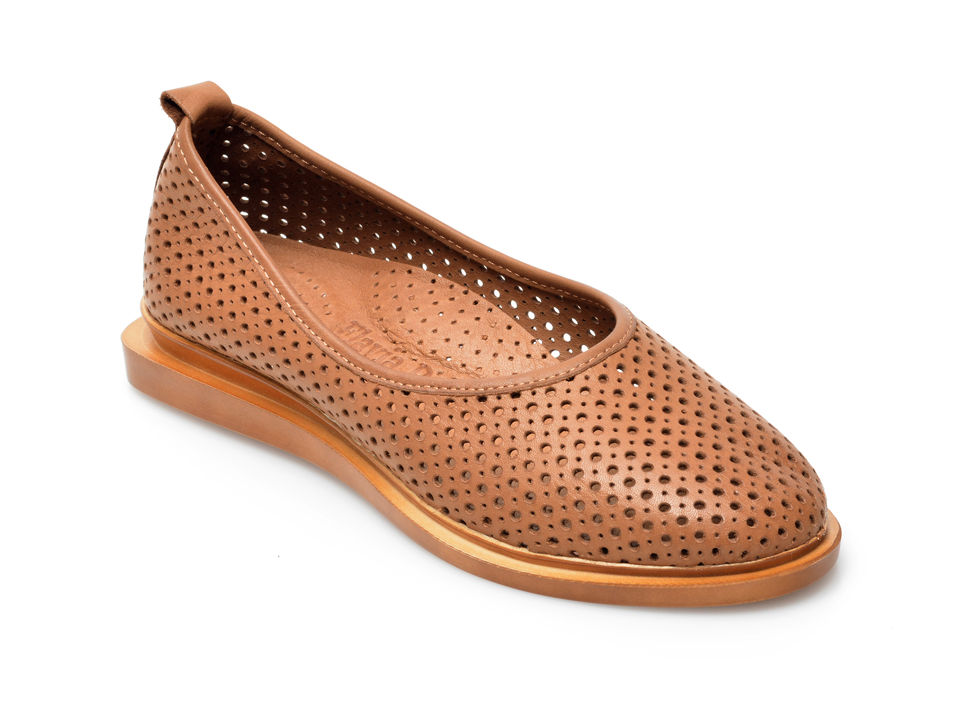 Pantofi FLAVIA PASSINI maro, 164374, din piele naturala imagine otter.ro 2021