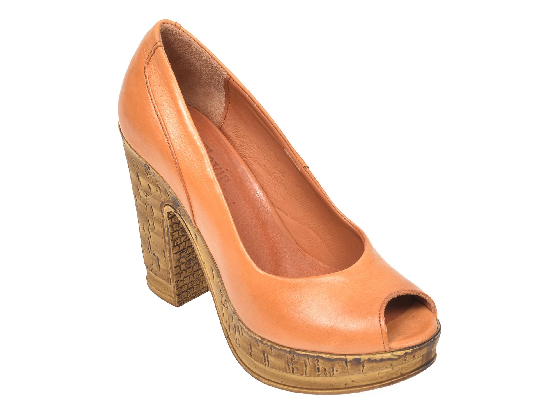 Pantofi FLAVIA PASSINI maro, 2602, din piele naturala imagine