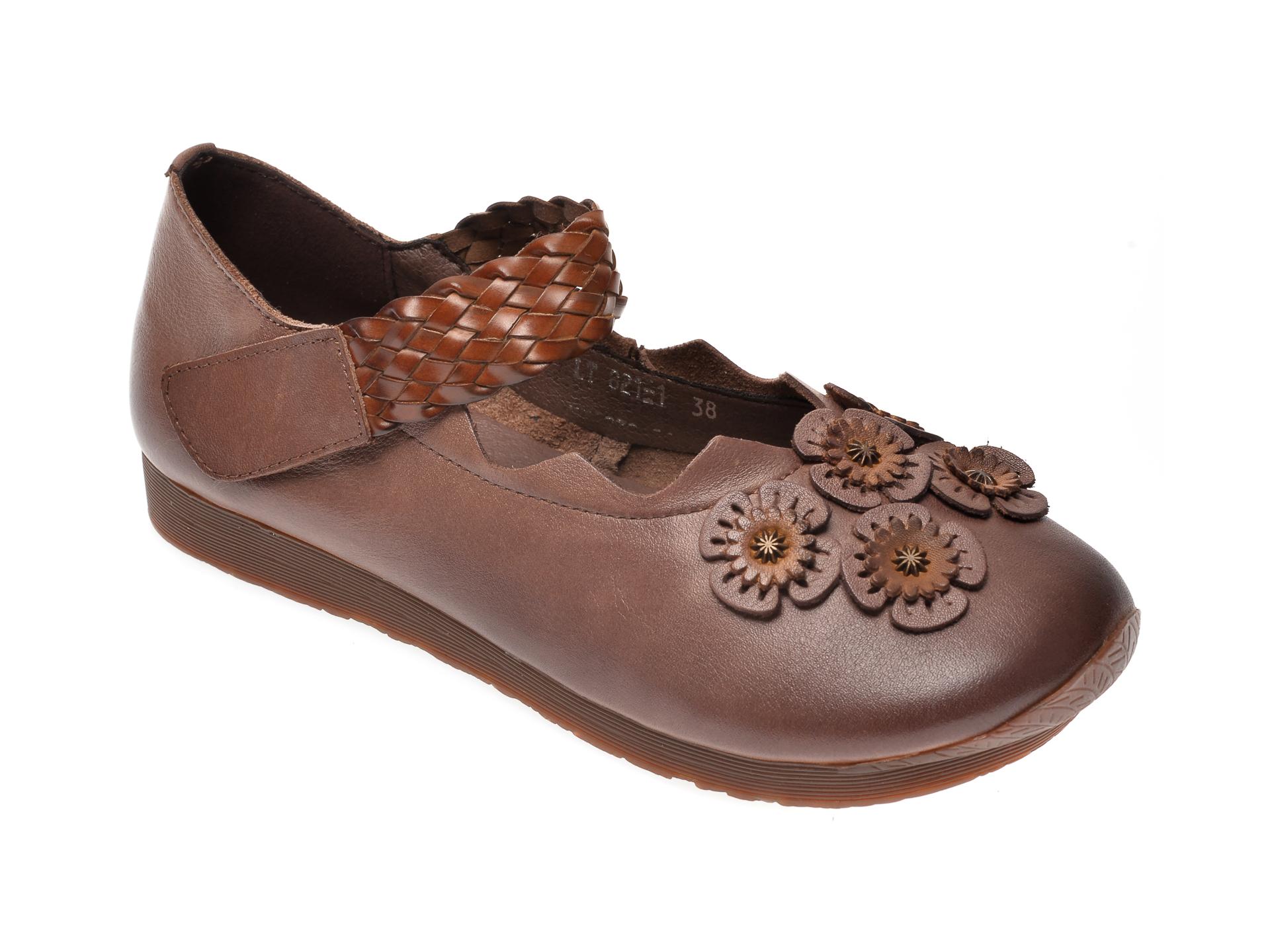 Pantofi FLAVIA PASSINI maro, C821, din piele naturala imagine