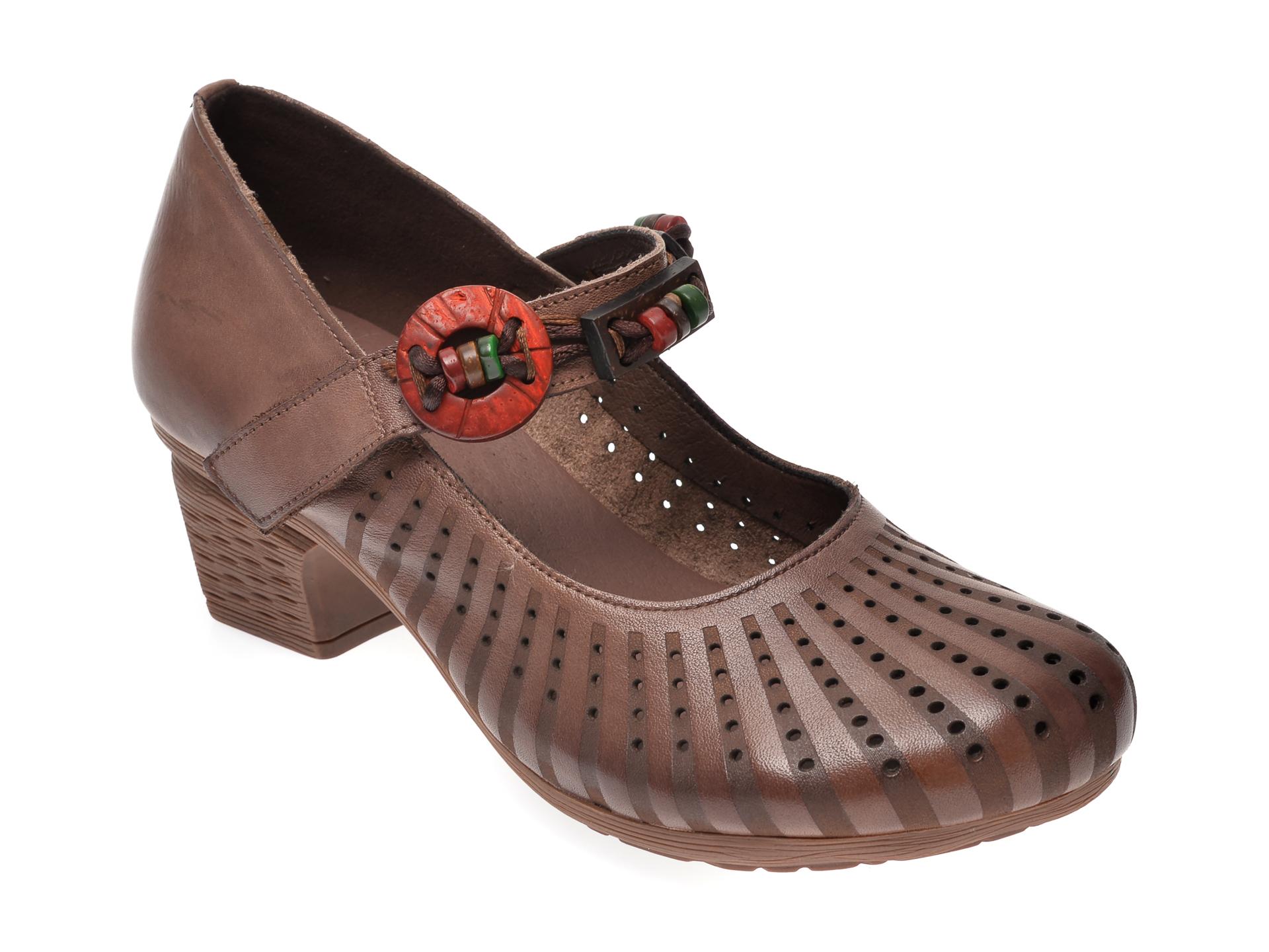 Pantofi FLAVIA PASSINI maro, C931, din piele naturala imagine
