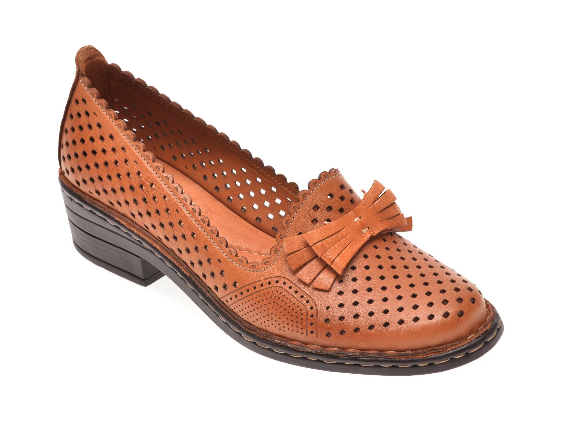 Pantofi FLAVIA PASSINI maro inchis, 70451, din piele naturala