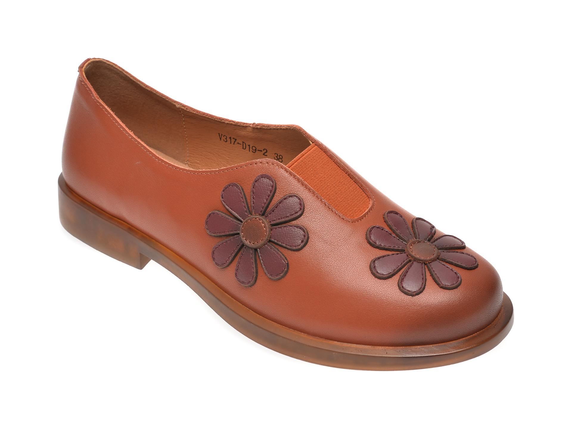 Pantofi FLAVIA PASSINI maro, V317D19, din piele naturala