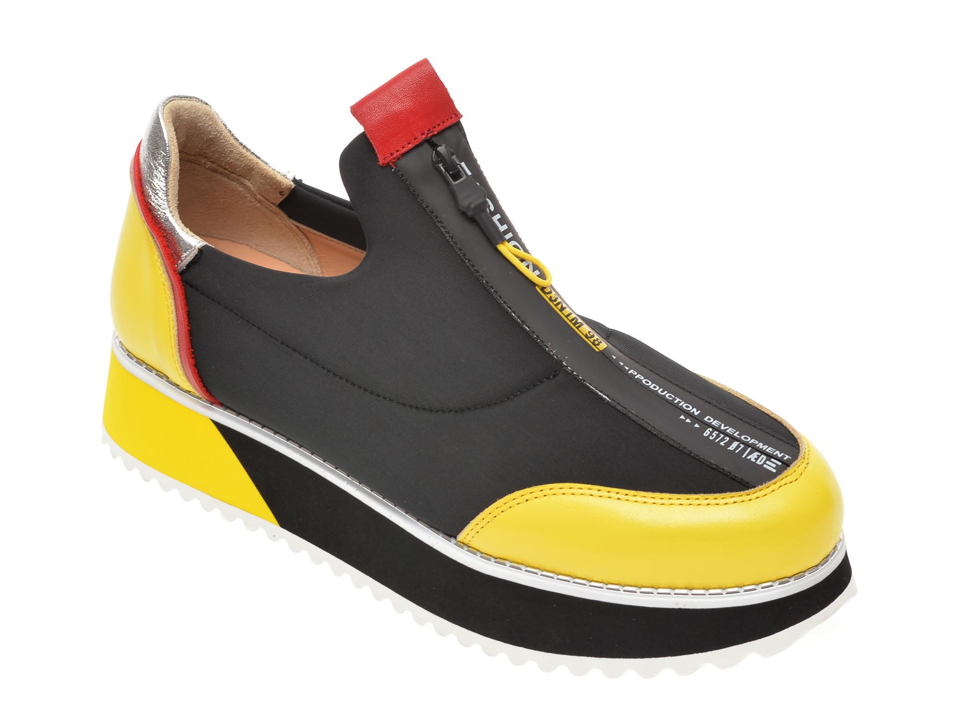 Pantofi FLAVIA PASSINI multicolor, 4582226, din material textil si piele naturala