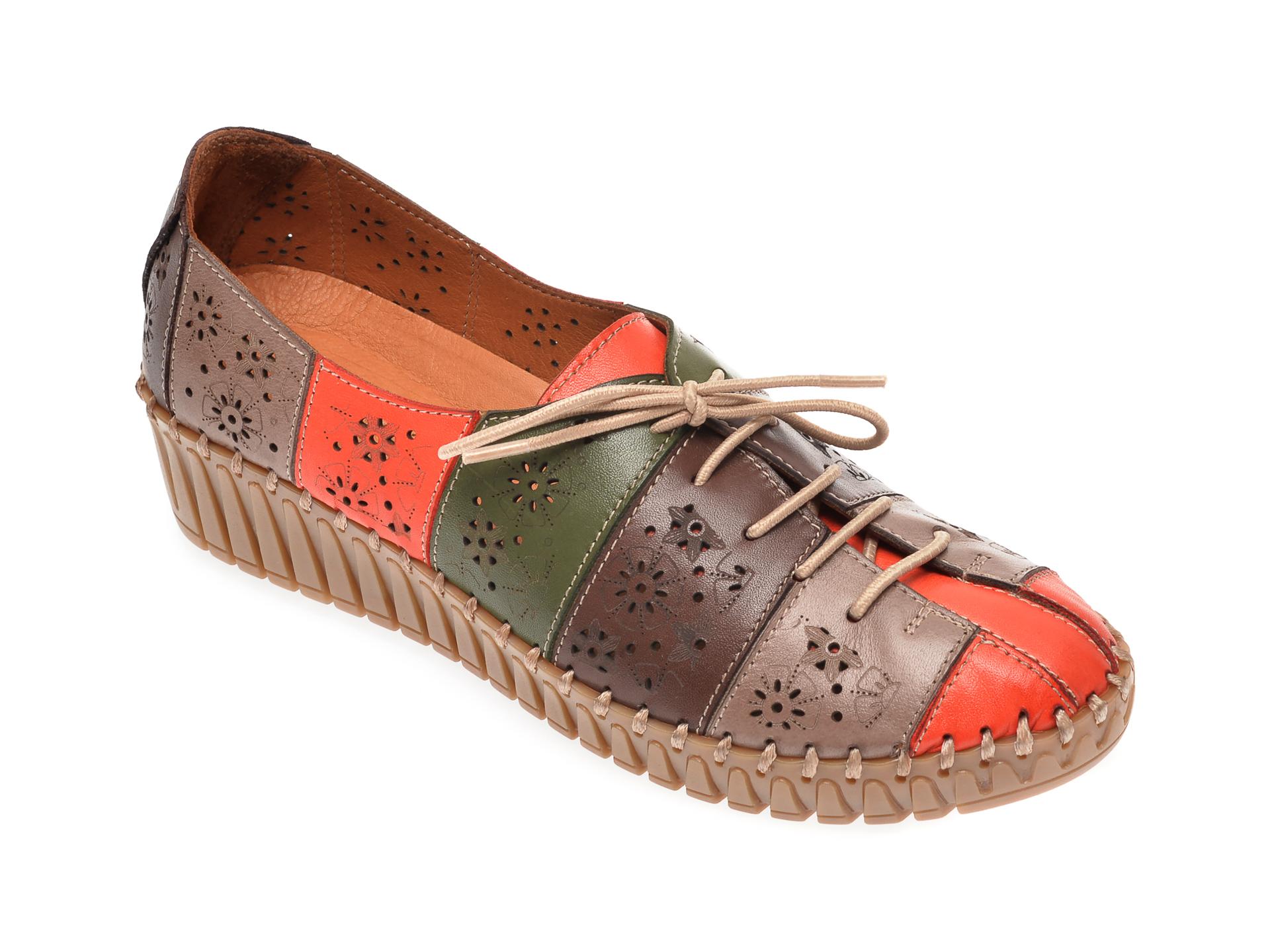 Pantofi Flavia Passini Multicolori, 769906, Din Piele Naturala