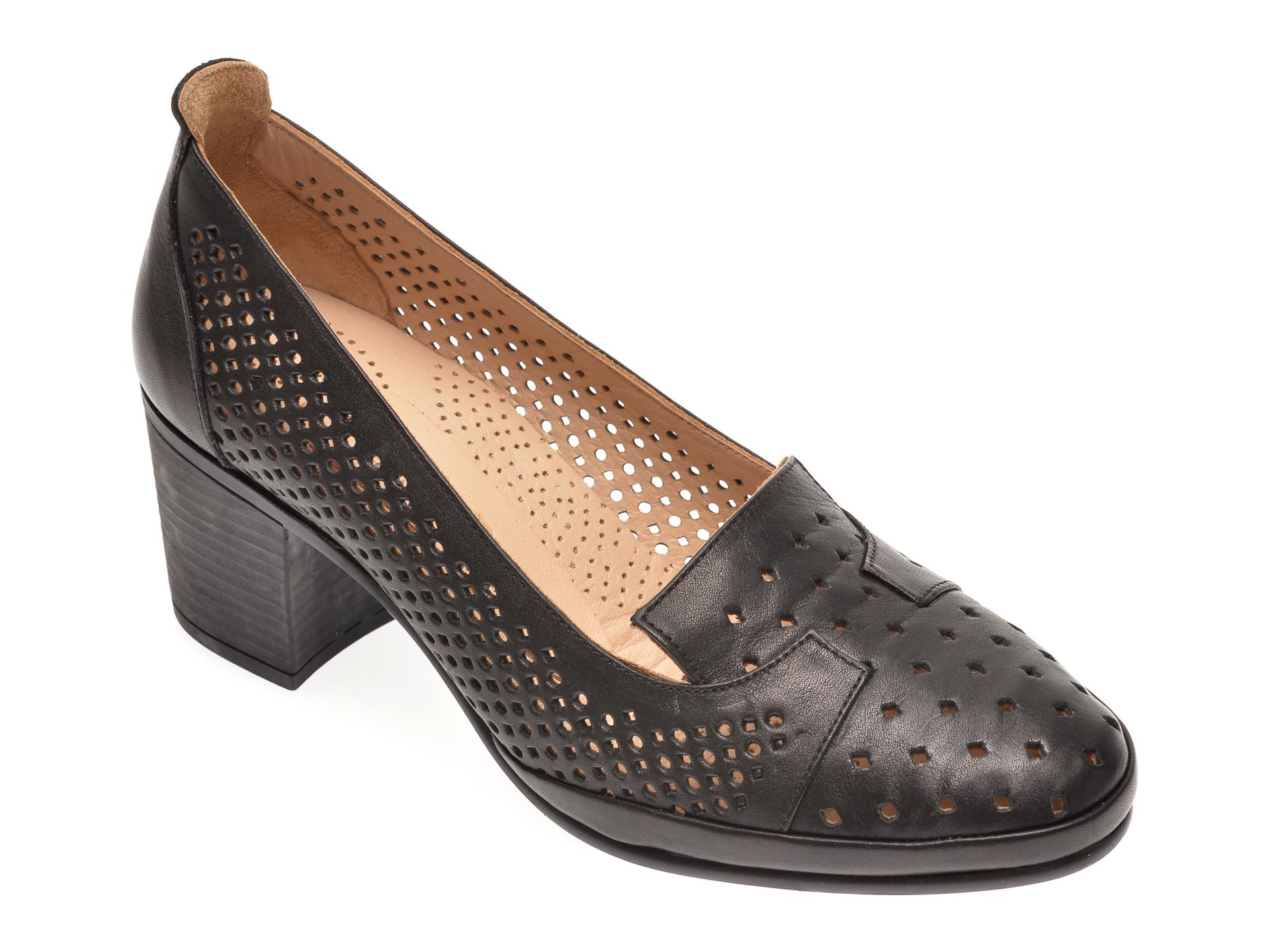Pantofi FLAVIA PASSINI negri, 0105054, din piele naturala imagine