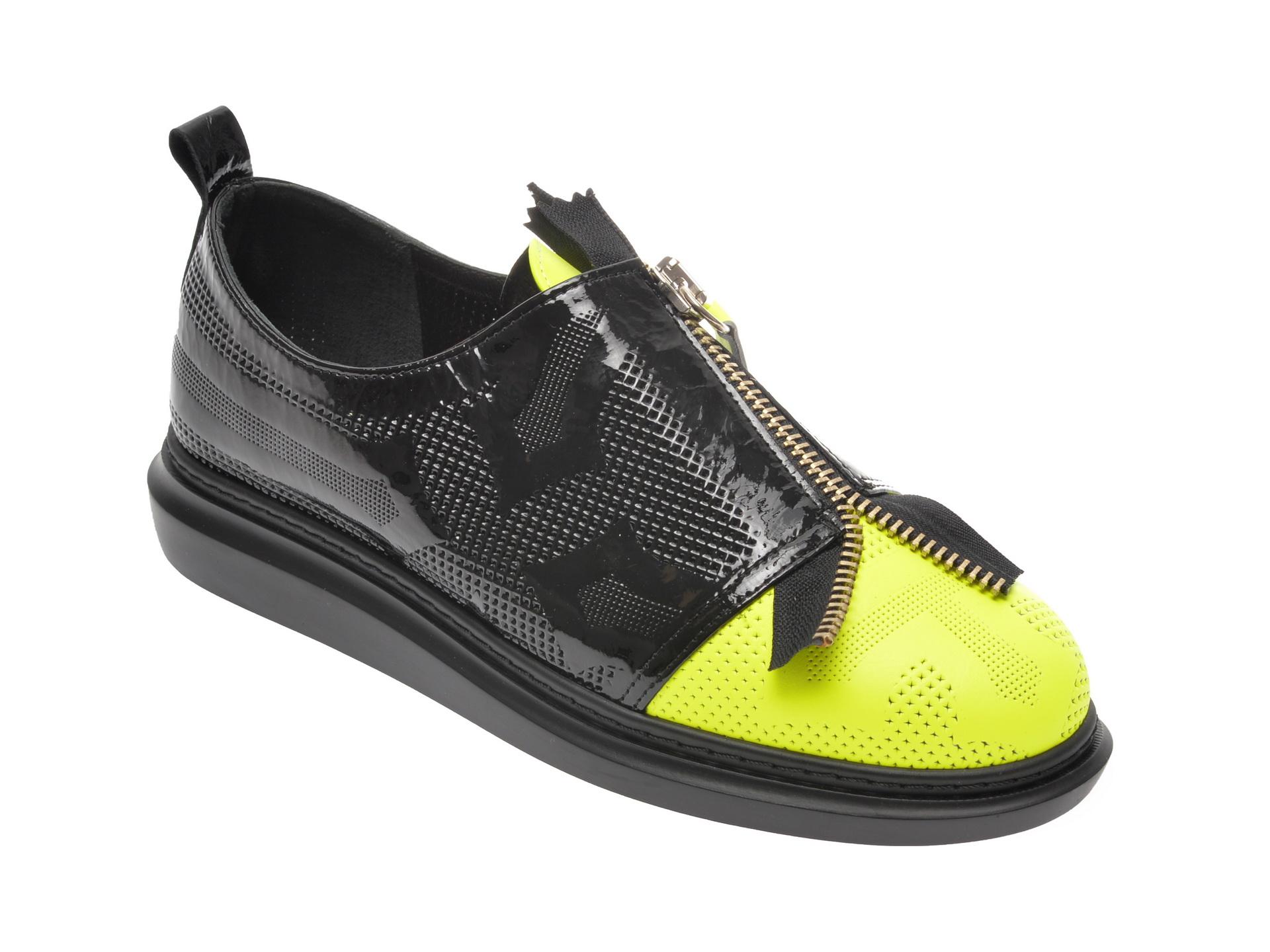 Pantofi FLAVIA PASSINI negri, 0612150, din piele naturala imagine