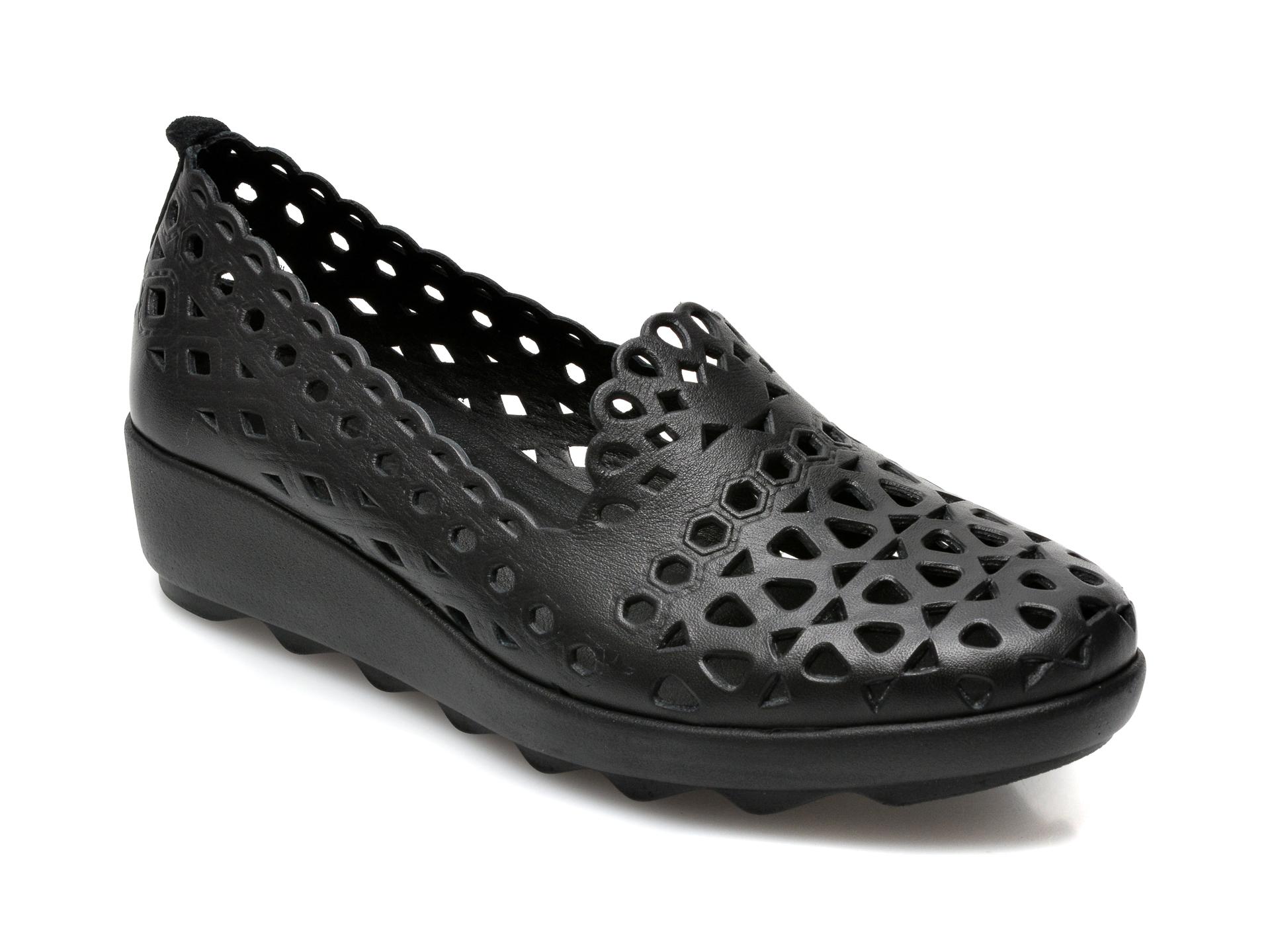 Pantofi FLAVIA PASSINI negri, 1011, din piele naturala imagine otter.ro 2021